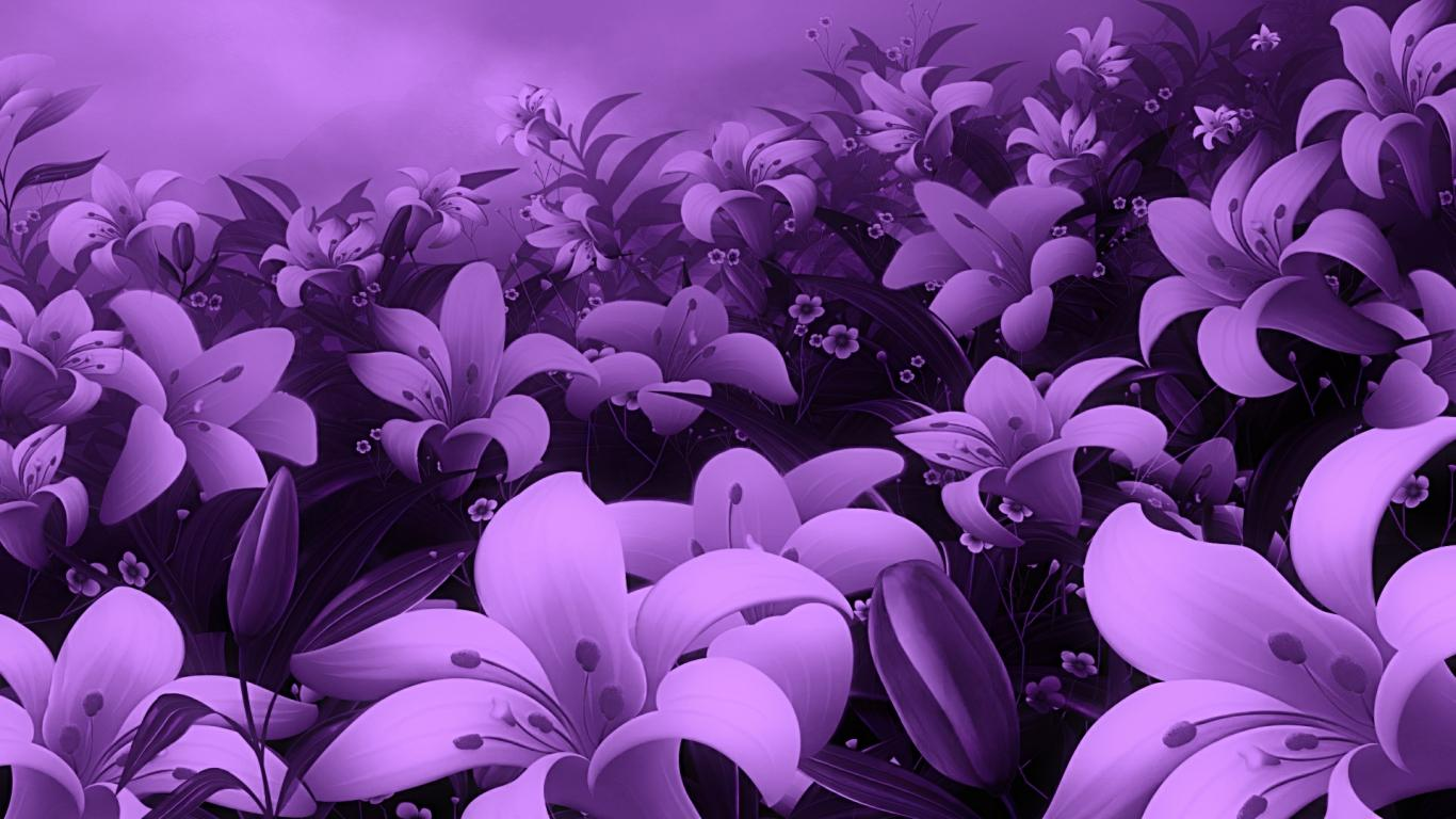 Purple Flower Wallpaper: Wallpapers for Gt Beautiful Purple Flower Wallpaper 1366x768px