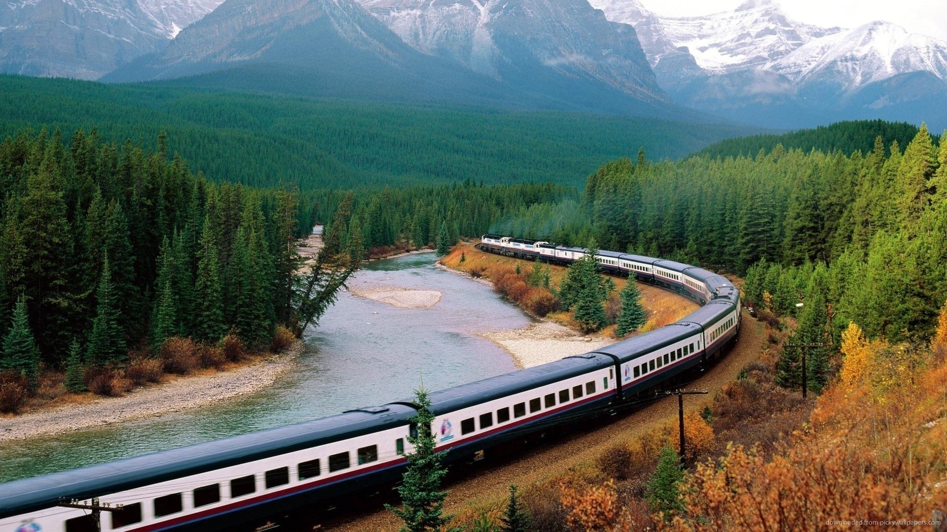 Beautiful landscape with a train picture
