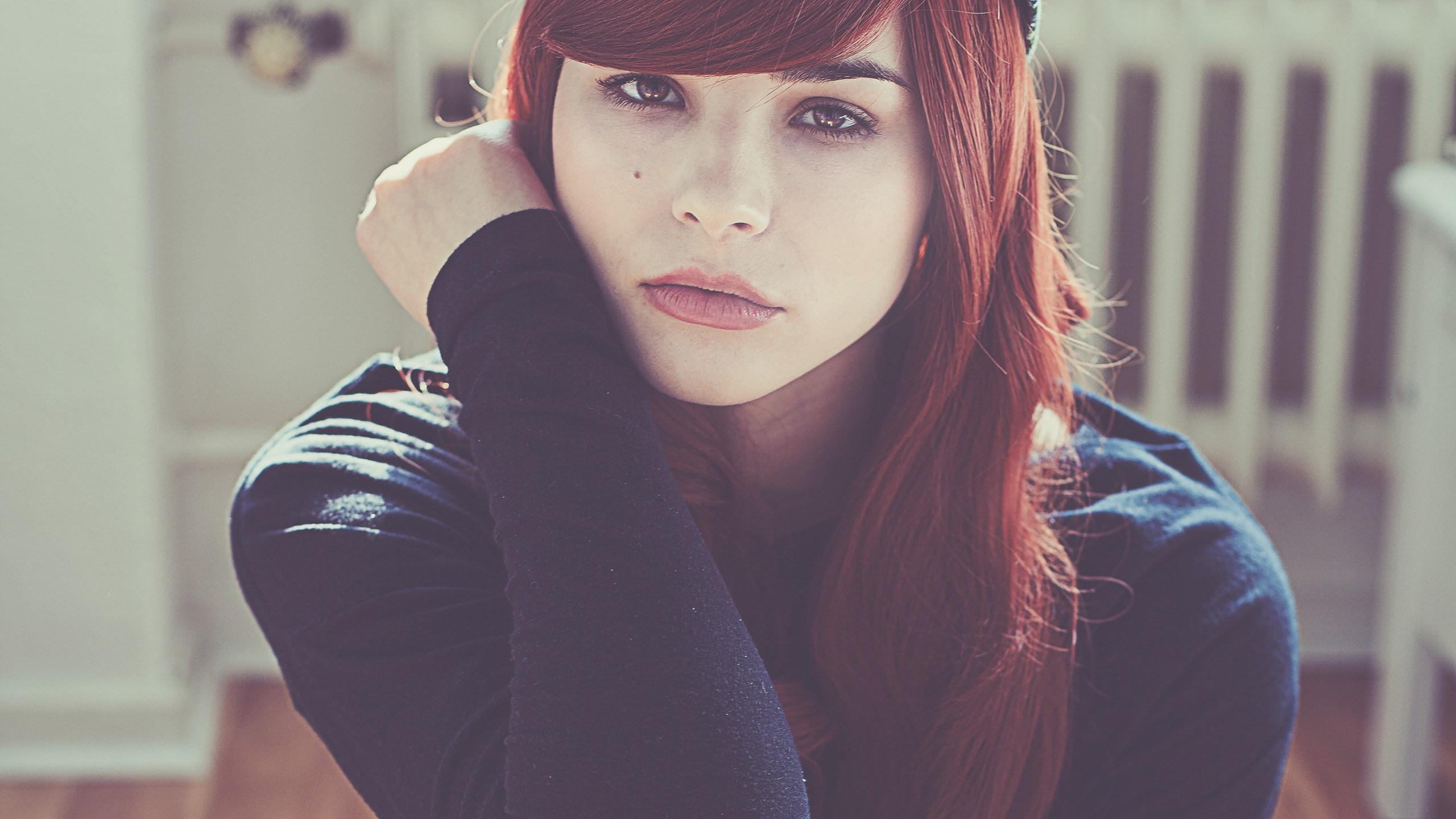 Beautiful Redhead Girl Look