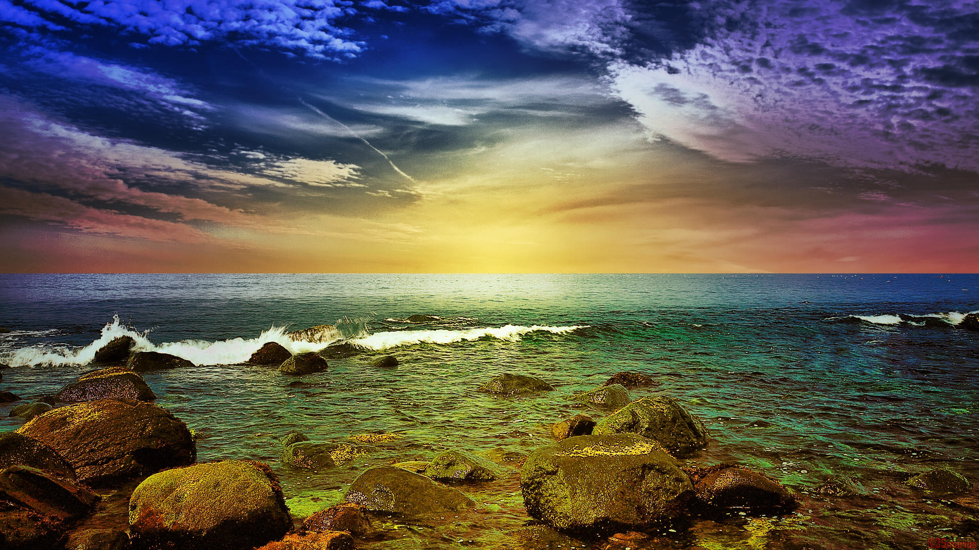Magnificent Colorful Seascape wallpaper