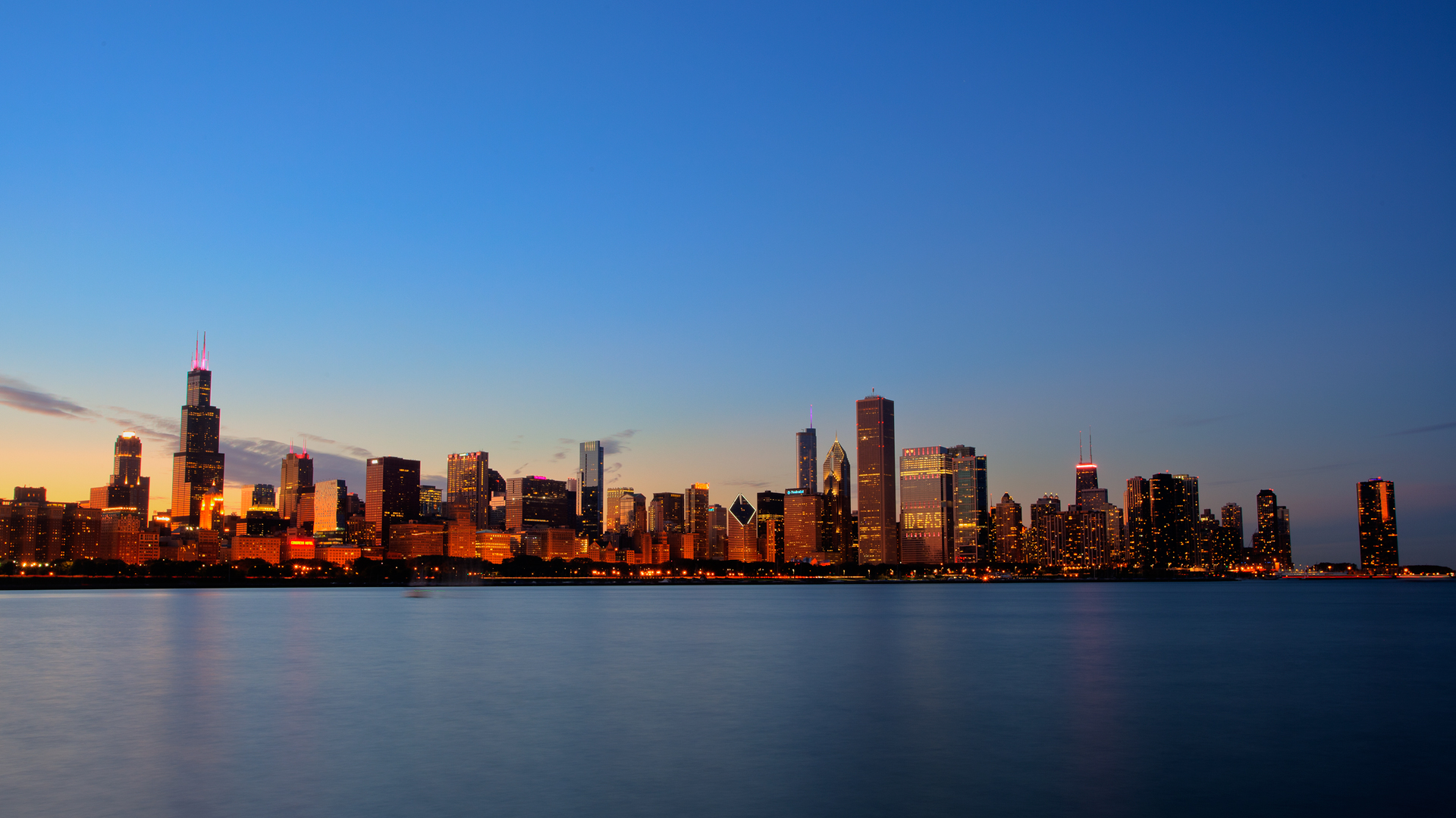 Beautiful Chicago Skyline wallpaper