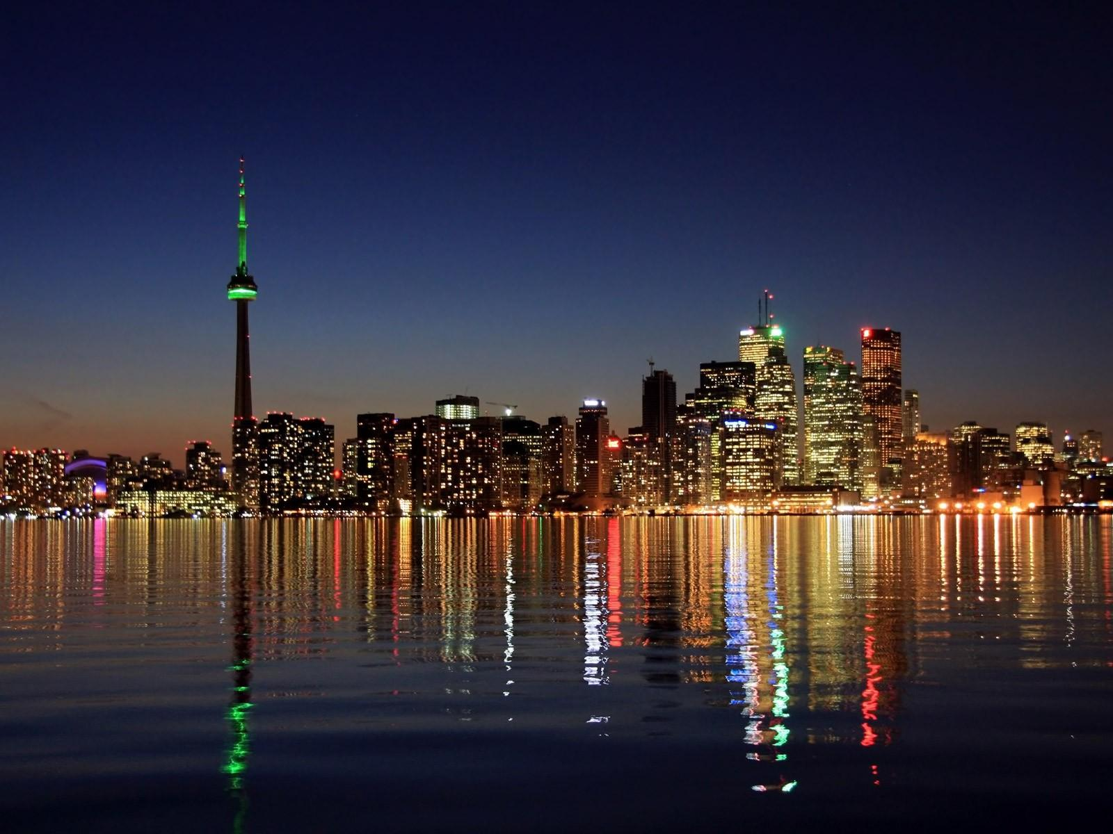Toronto Beautiful Night Skyline Wallpaper