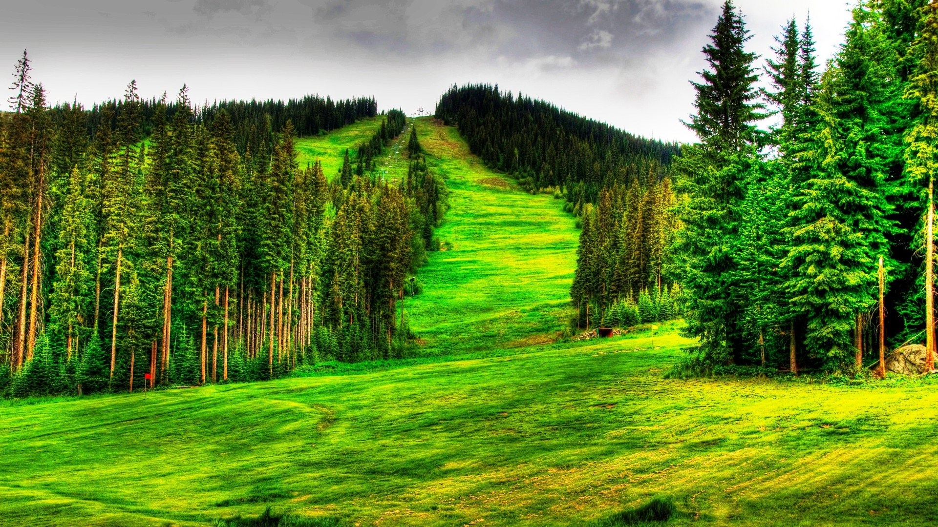 Beautiful Mountain Ski Slope In Summer Hdr Hd Desktop Background HD wallpapers