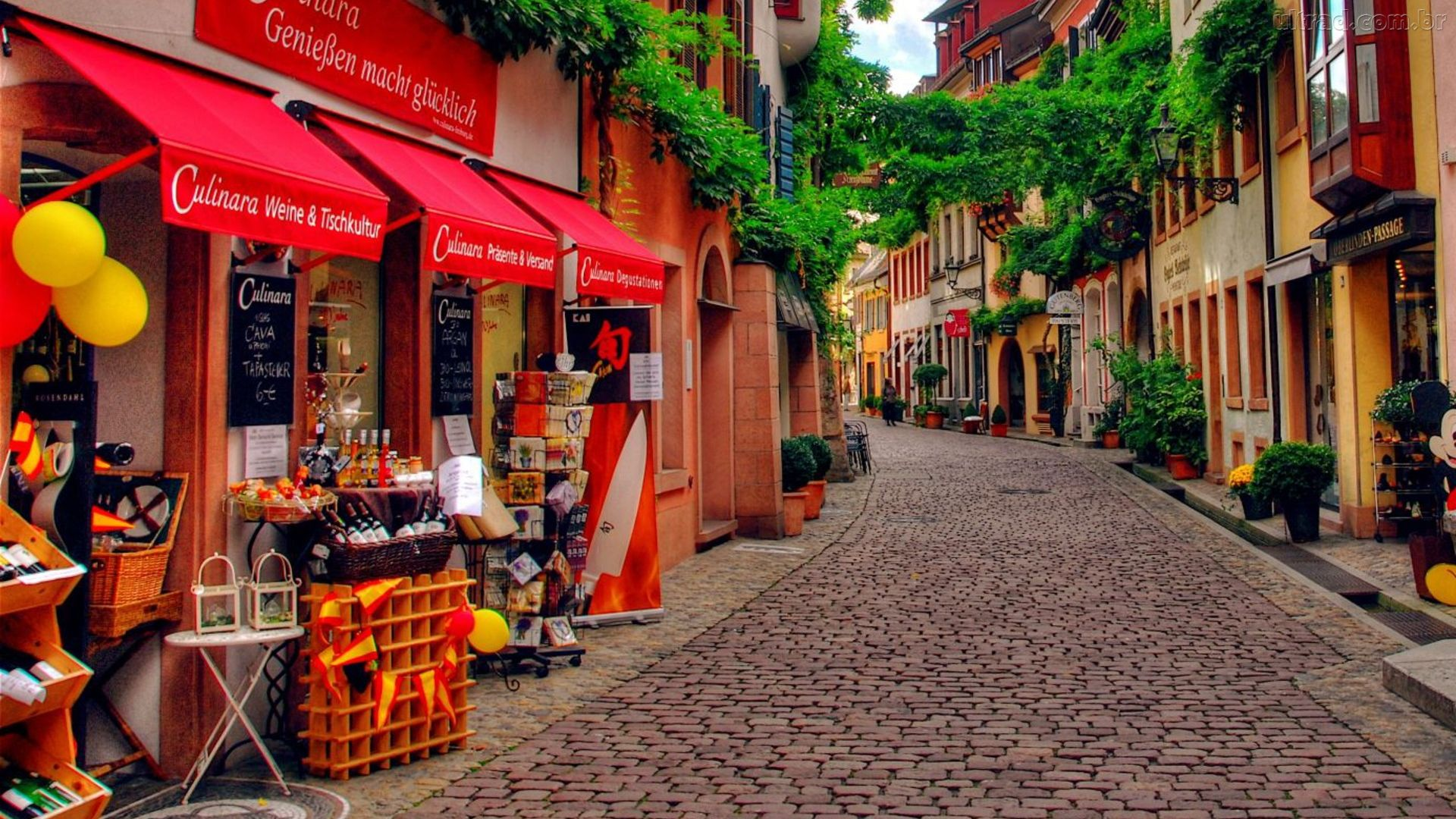 Beautiful Side Street In Germany wallpaper