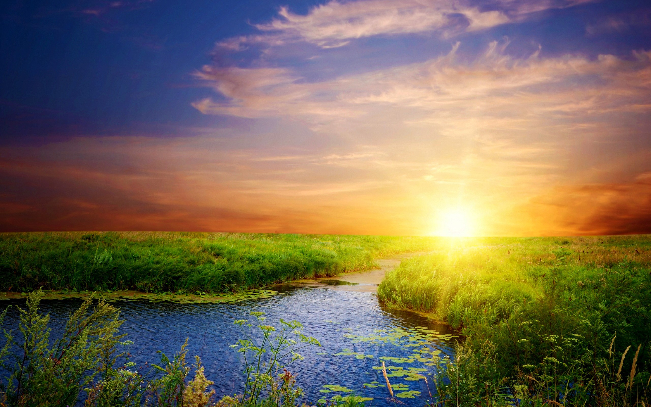 Beautiful Landscapes Sunlight Wallpaper Rivers Best Source For 2560x1600px