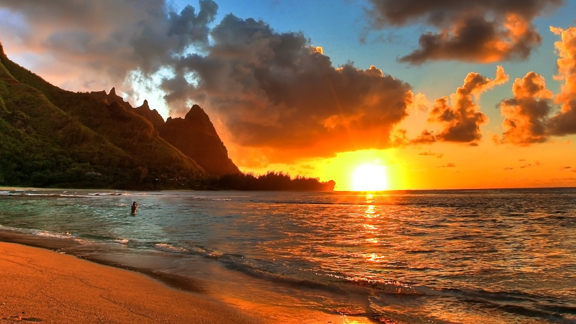 Beautiful Sunsets Beach 1 HD Images Wallpapers