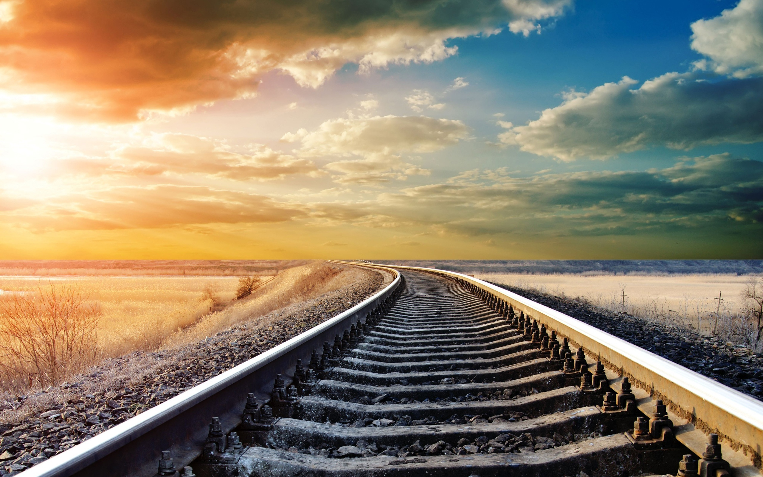 Beautiful Train Track Wallpaper