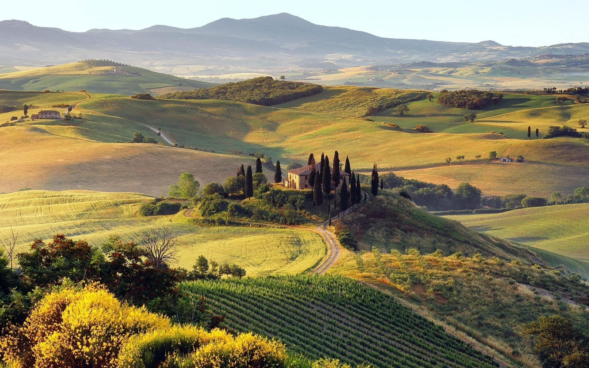 beautiful tuscany hd wallpaper