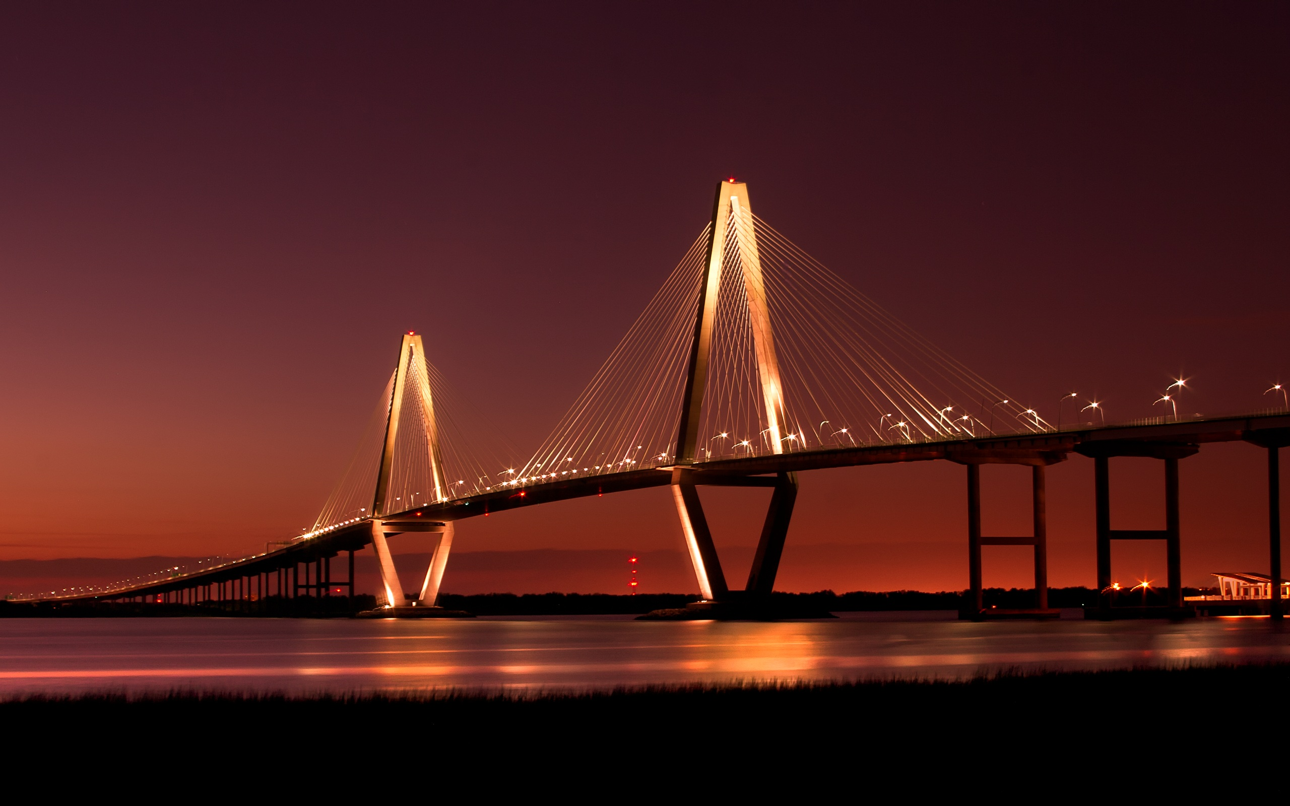 HD Wallpapers Beautiful Bridges wallpaper free - Cooper River Bridge