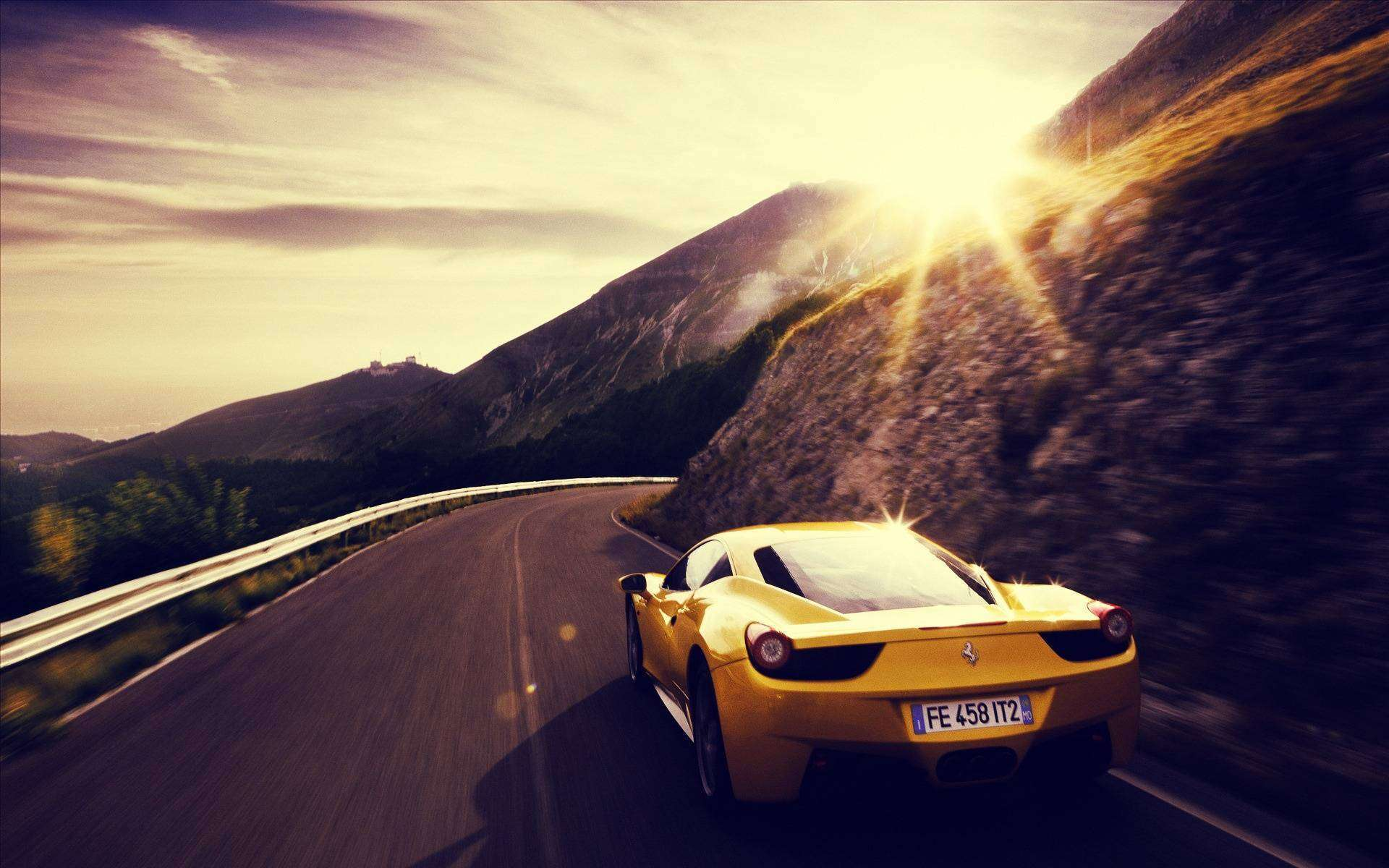 Beautiful Yellow Ferrari Wallpaper