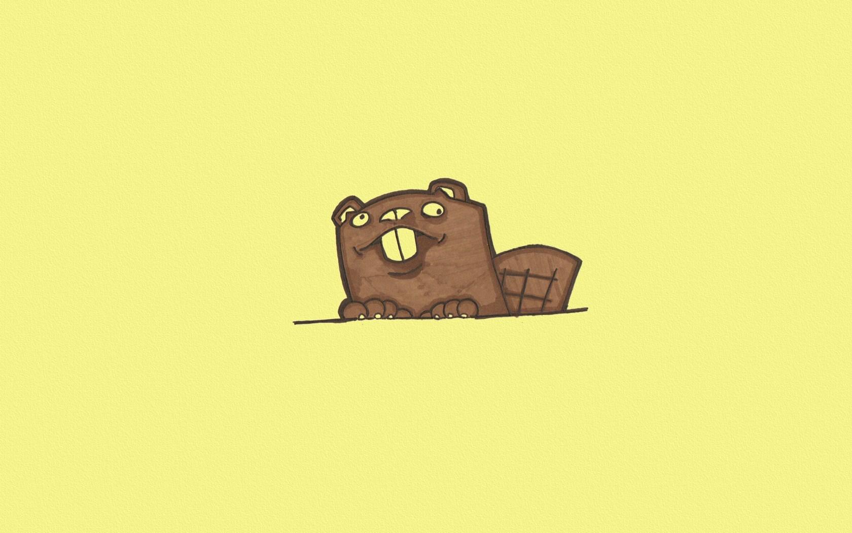 Beaver Minimalism Art