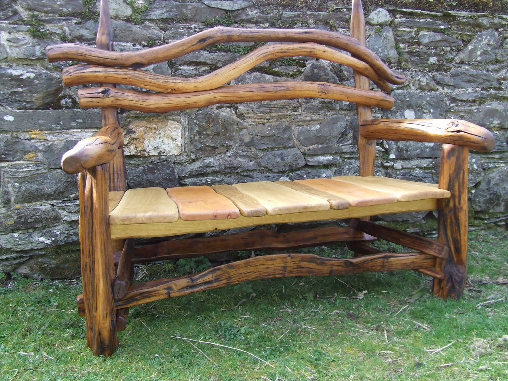 ... Outdoor Benches Rustic Garden Bench 16 On Outdoor Design ...