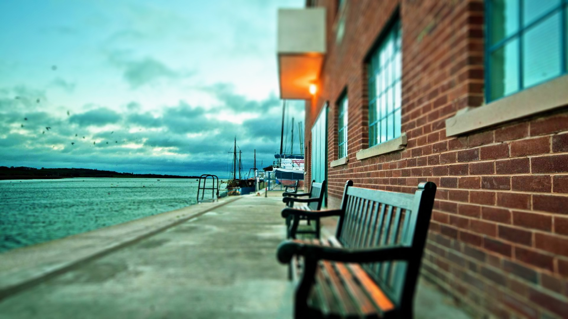 Benches ships dock