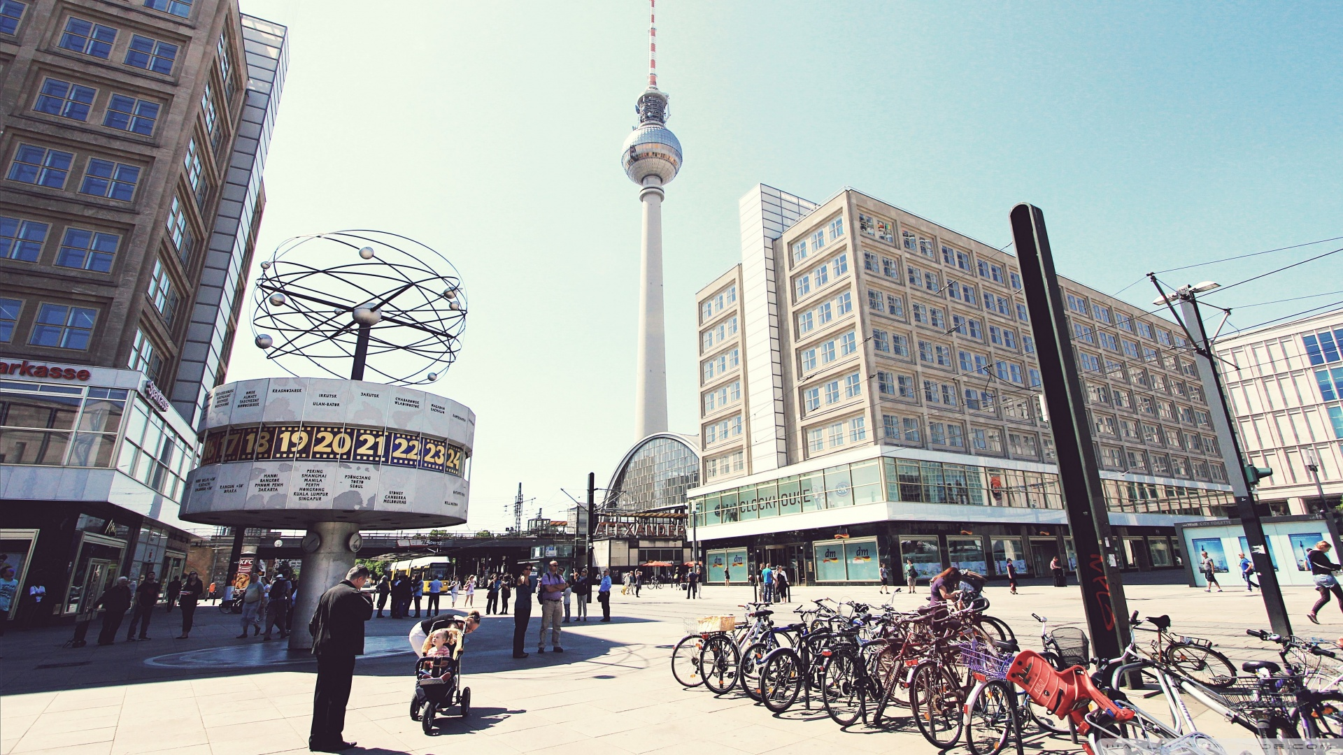 1920x1080 Television Tower Berlin wallpaper