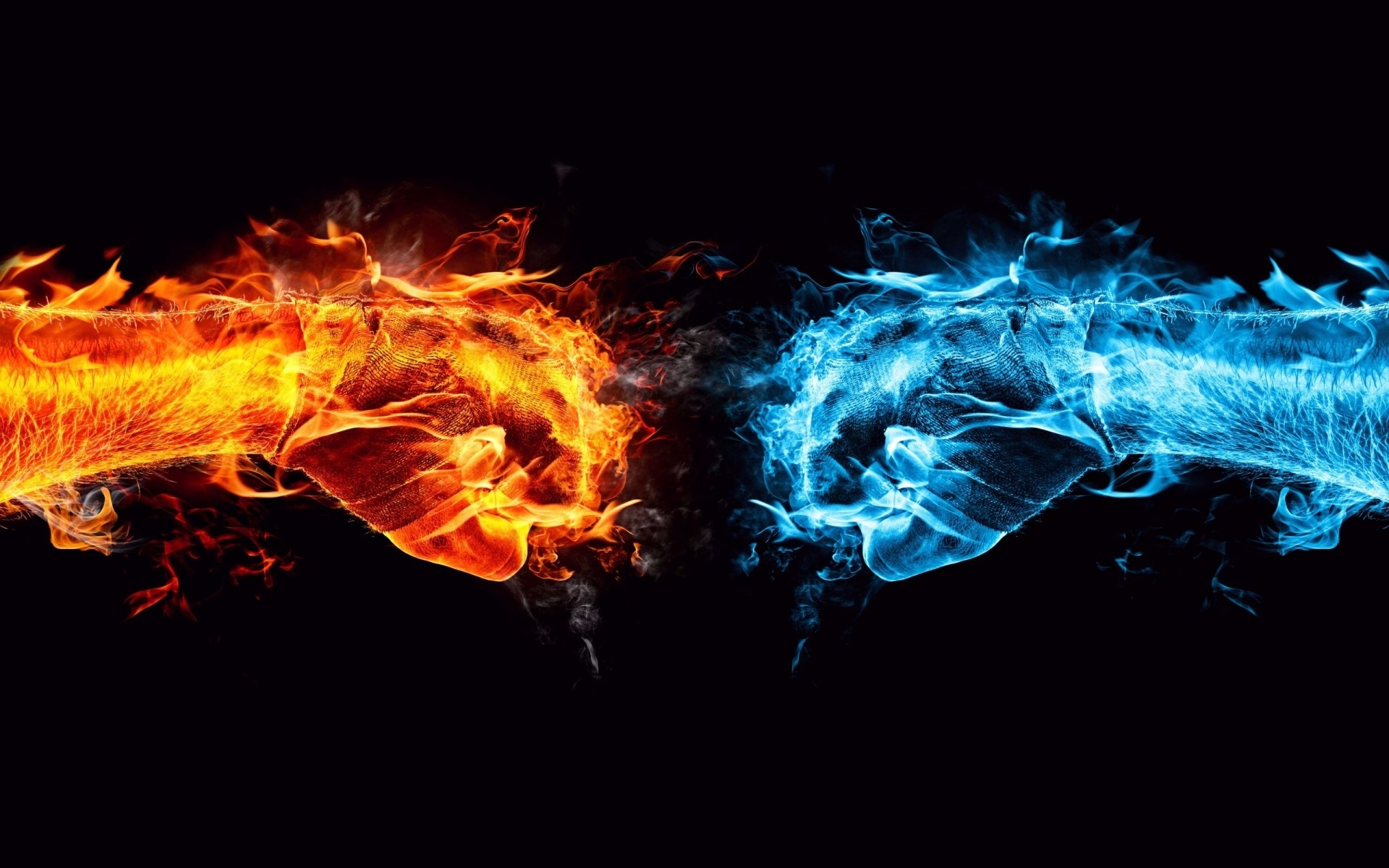 Best Wallpaper Fire and Water Unite