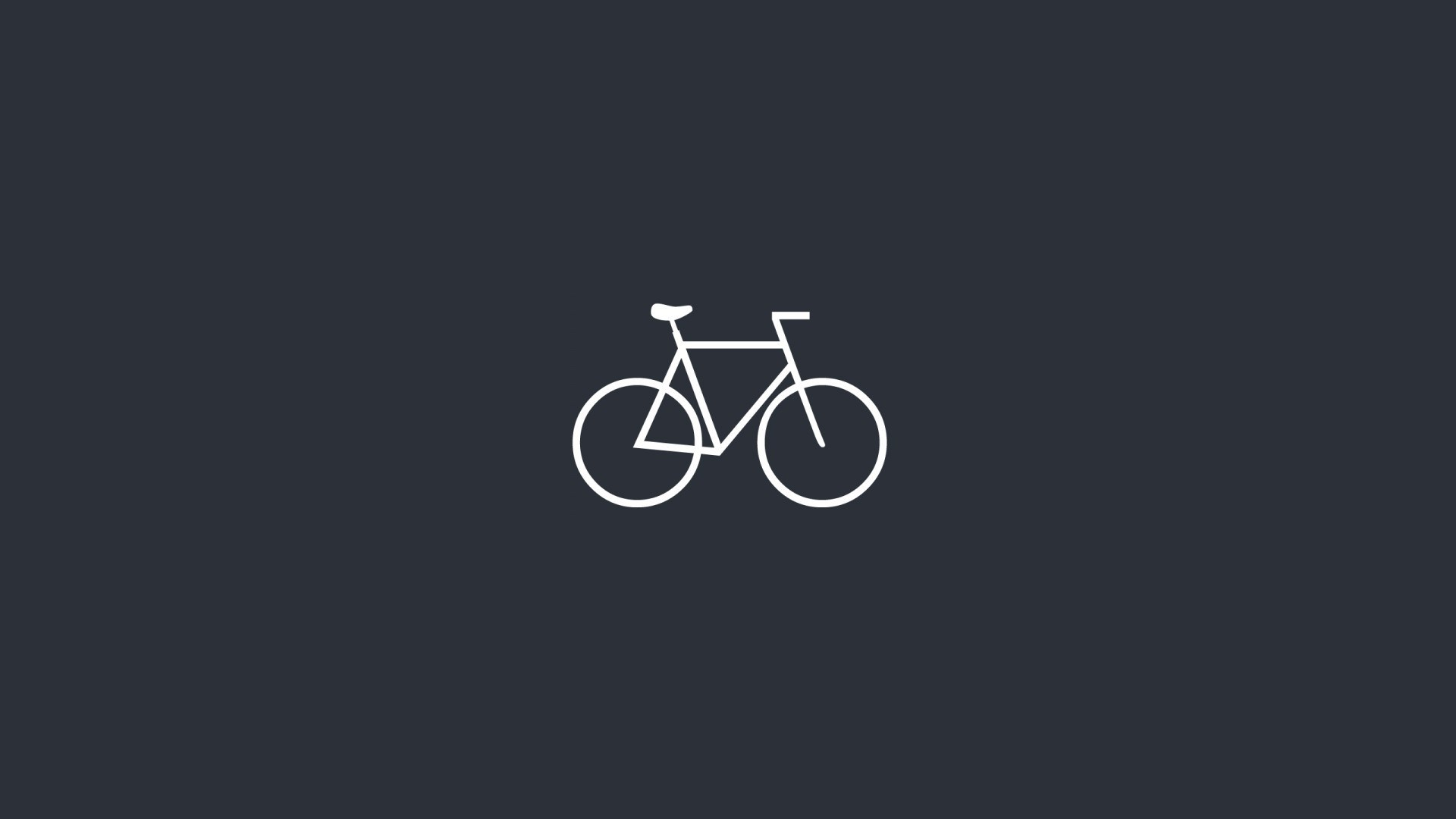 Bicycle Minimalistic Art HD Wallpaper