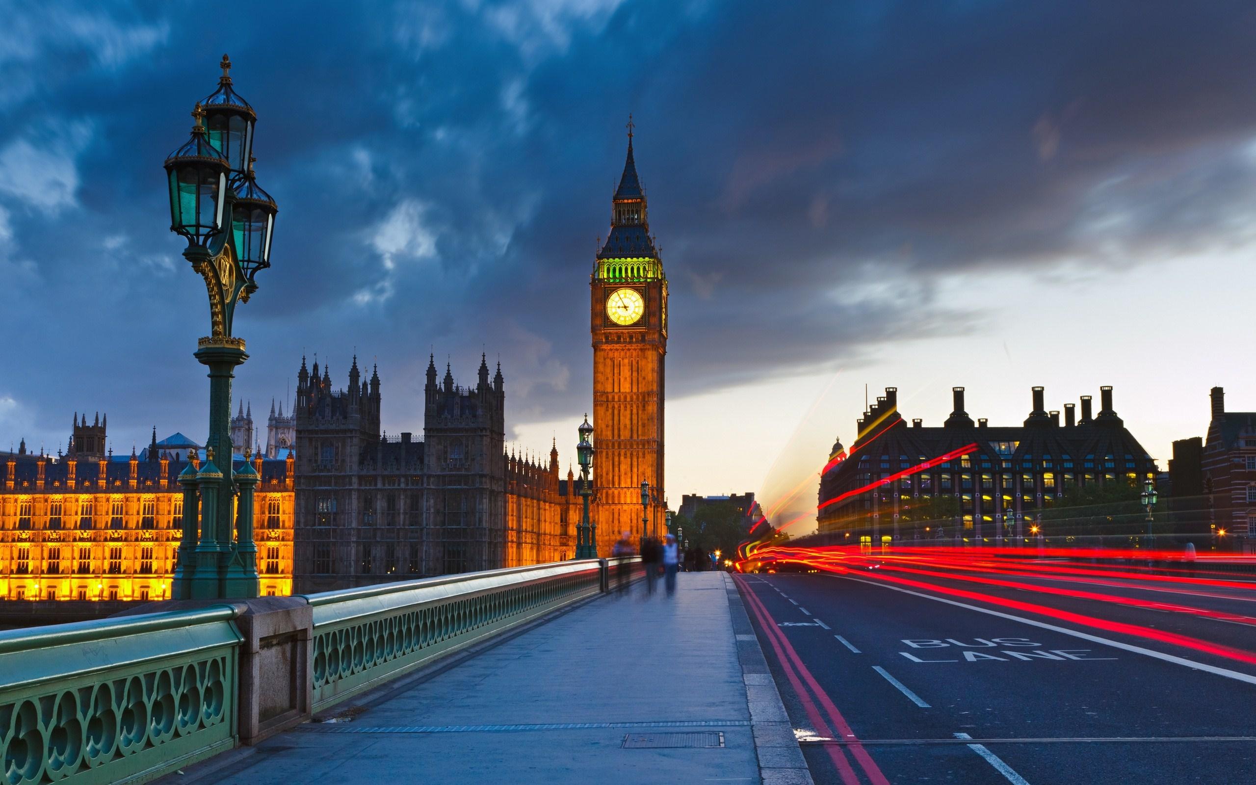 Big Ben UK London City Street Photo