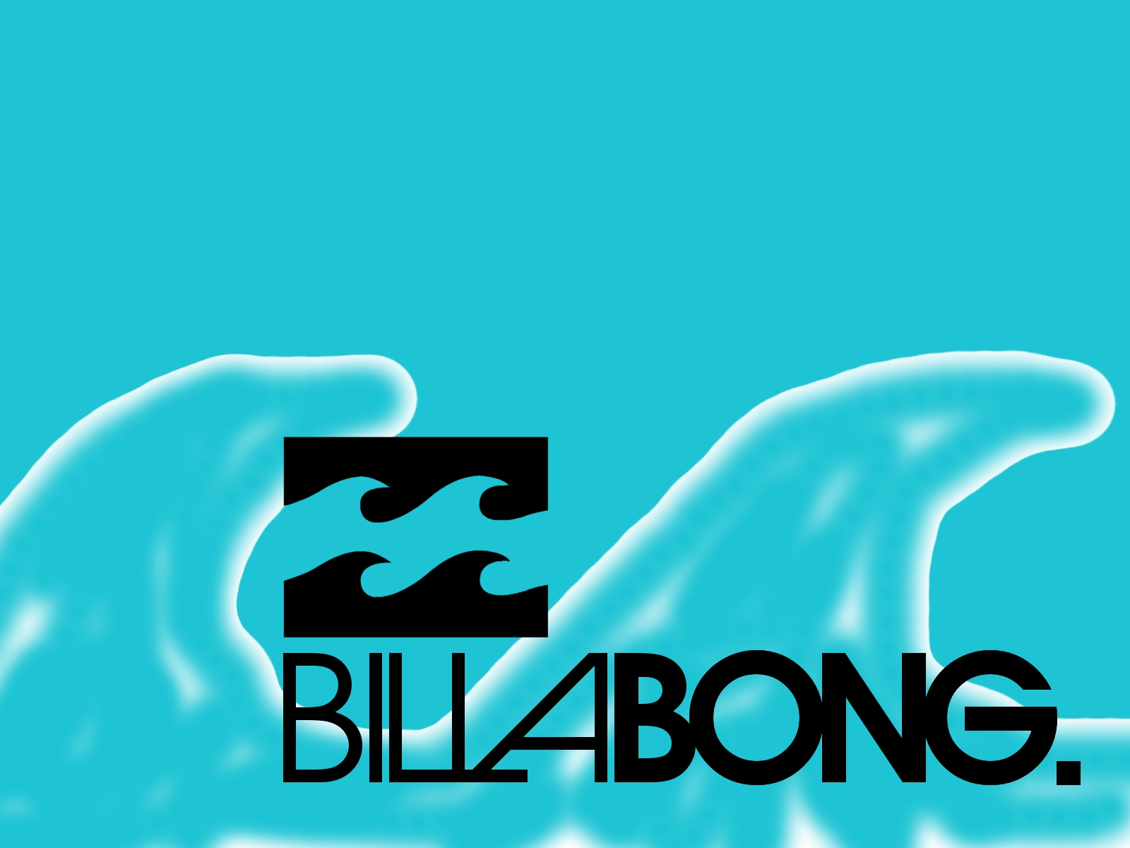 Billabong Logo On Blue Waves Background 1600x1200 DESKTOP