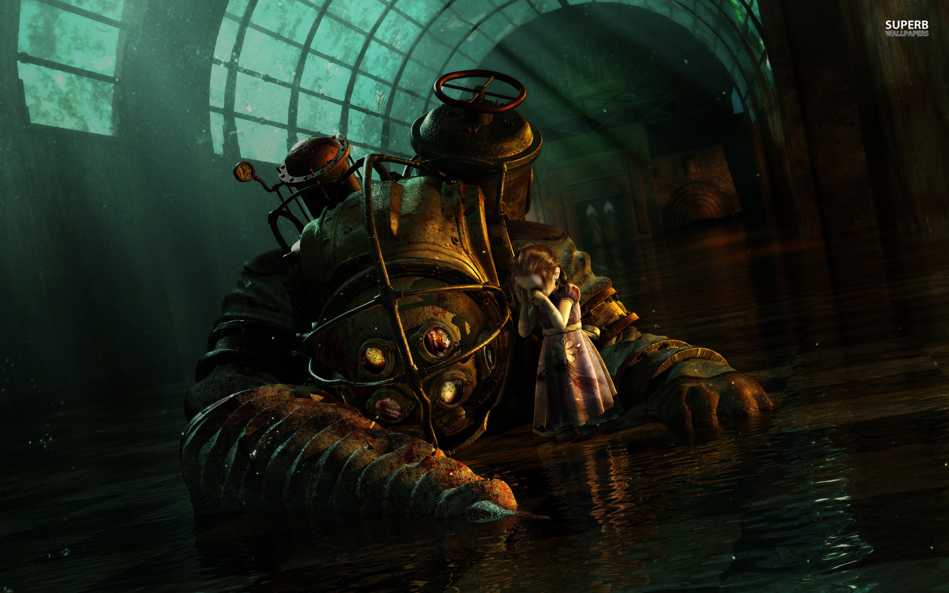 Big Daddy and Little Sister - BioShock wallpaper 1920x1200
