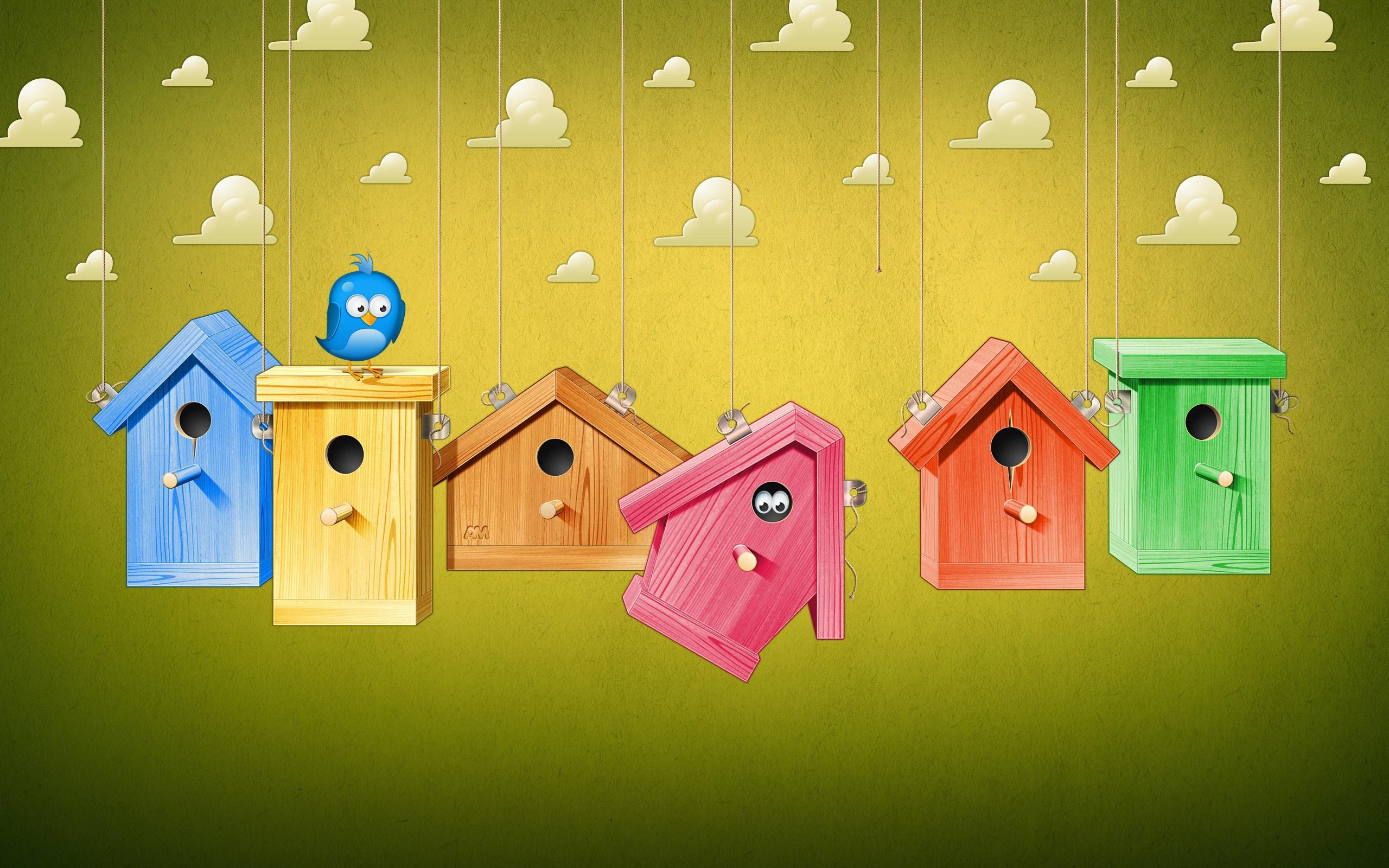 Bird Cages Art Cartoon