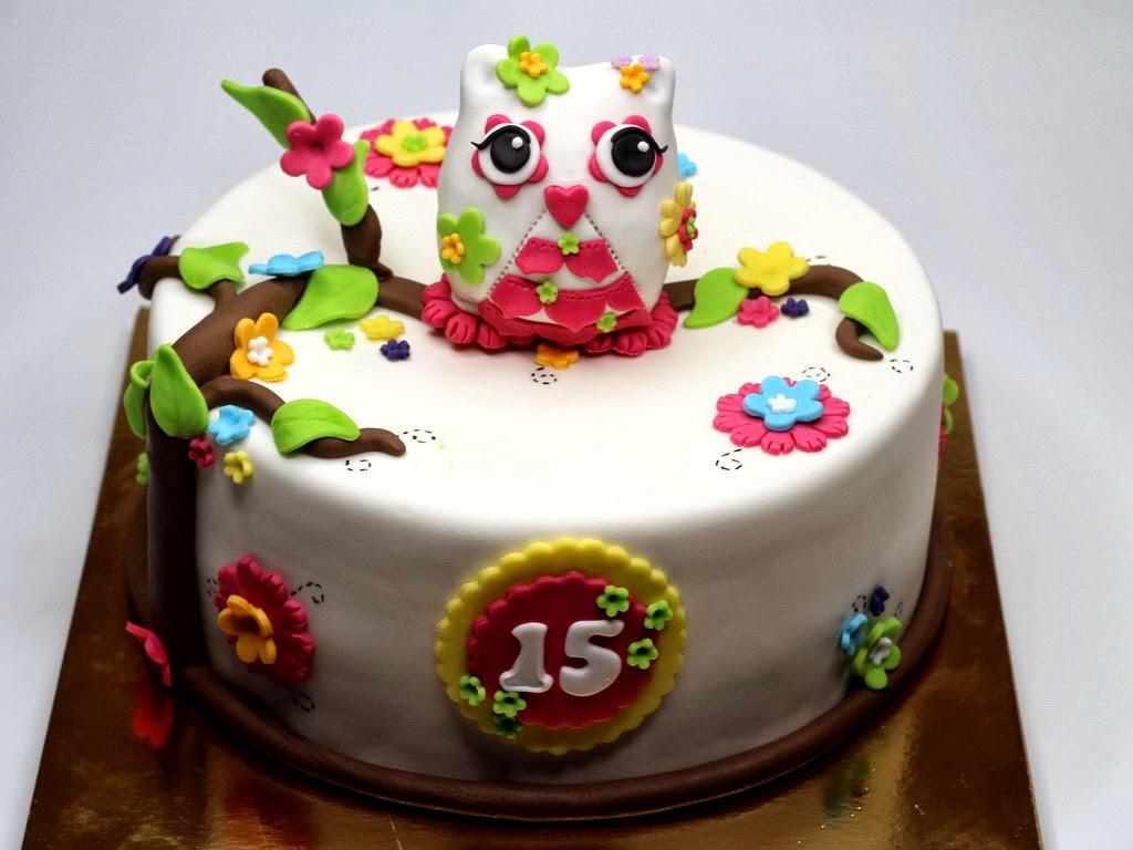 birthday cake owl