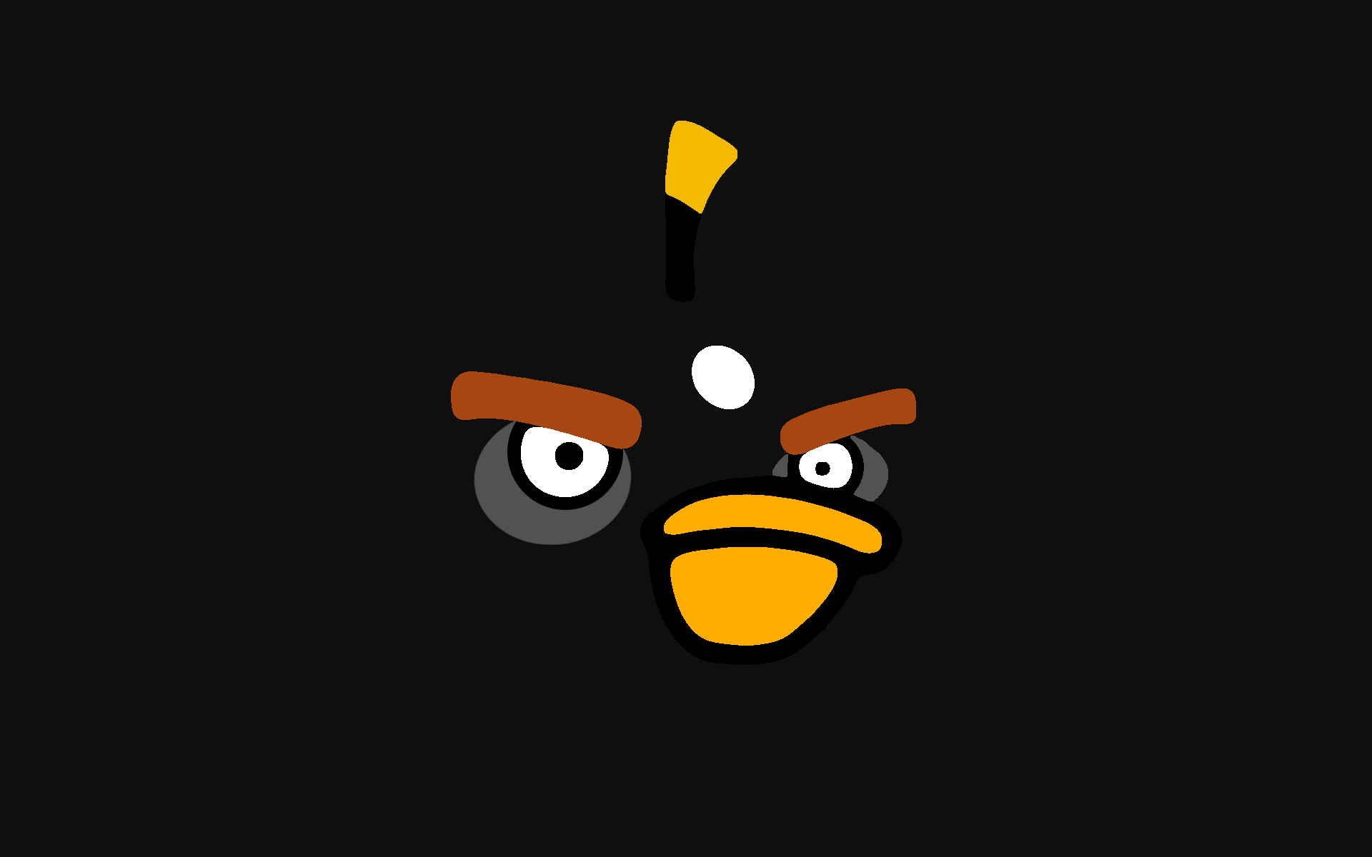 Black Angry Bird Wallpaper