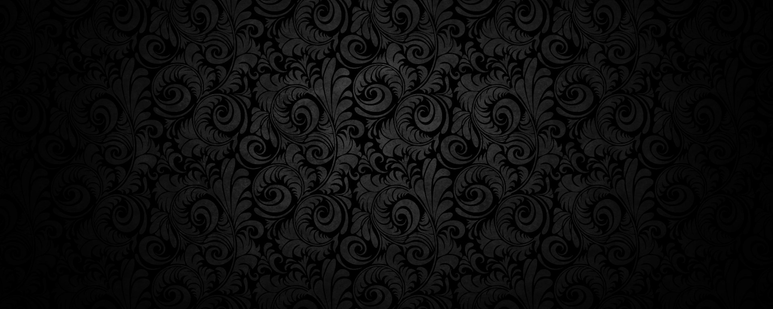 2560x1024 Wallpaper black background, pattern, light, texture
