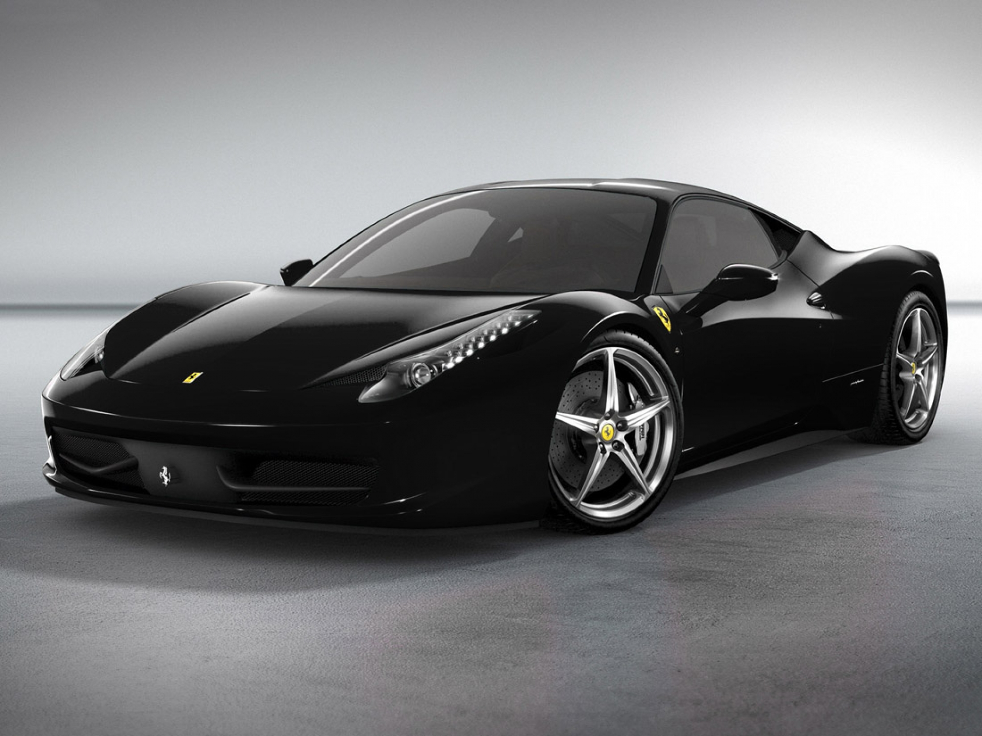 Black Ferrari Wallpaper 054