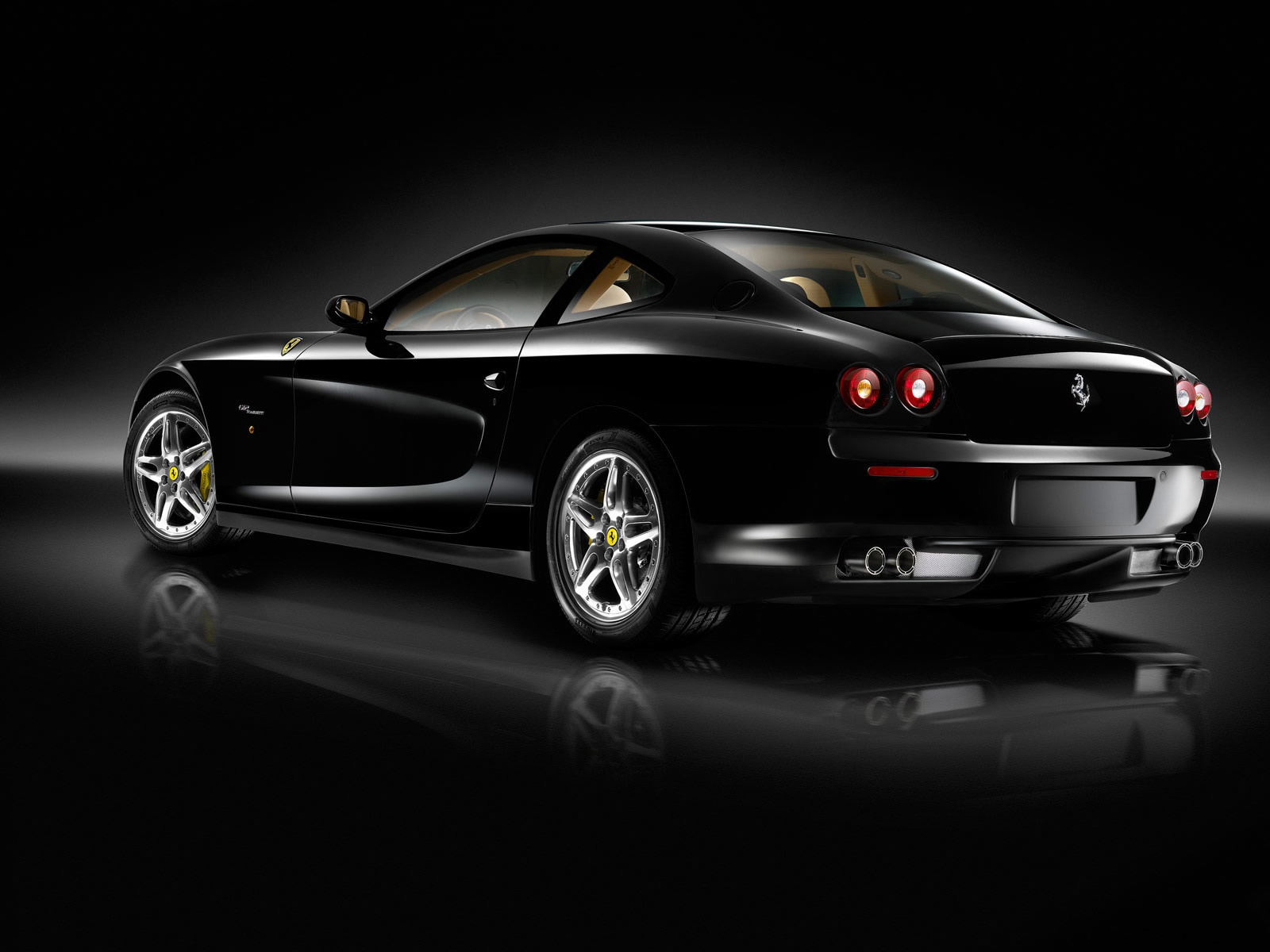 Black Ferrari Background Wallpaper