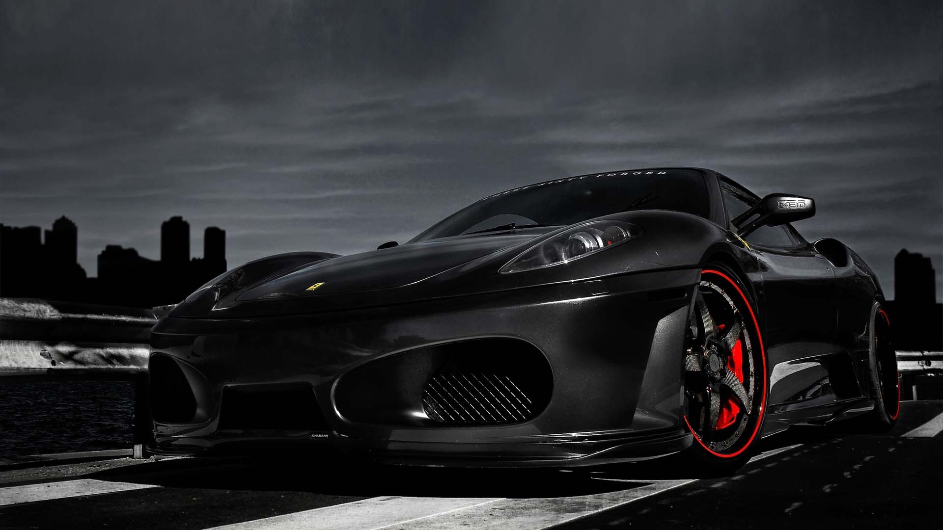 Black Ferrari Cars Wallpapers Hd