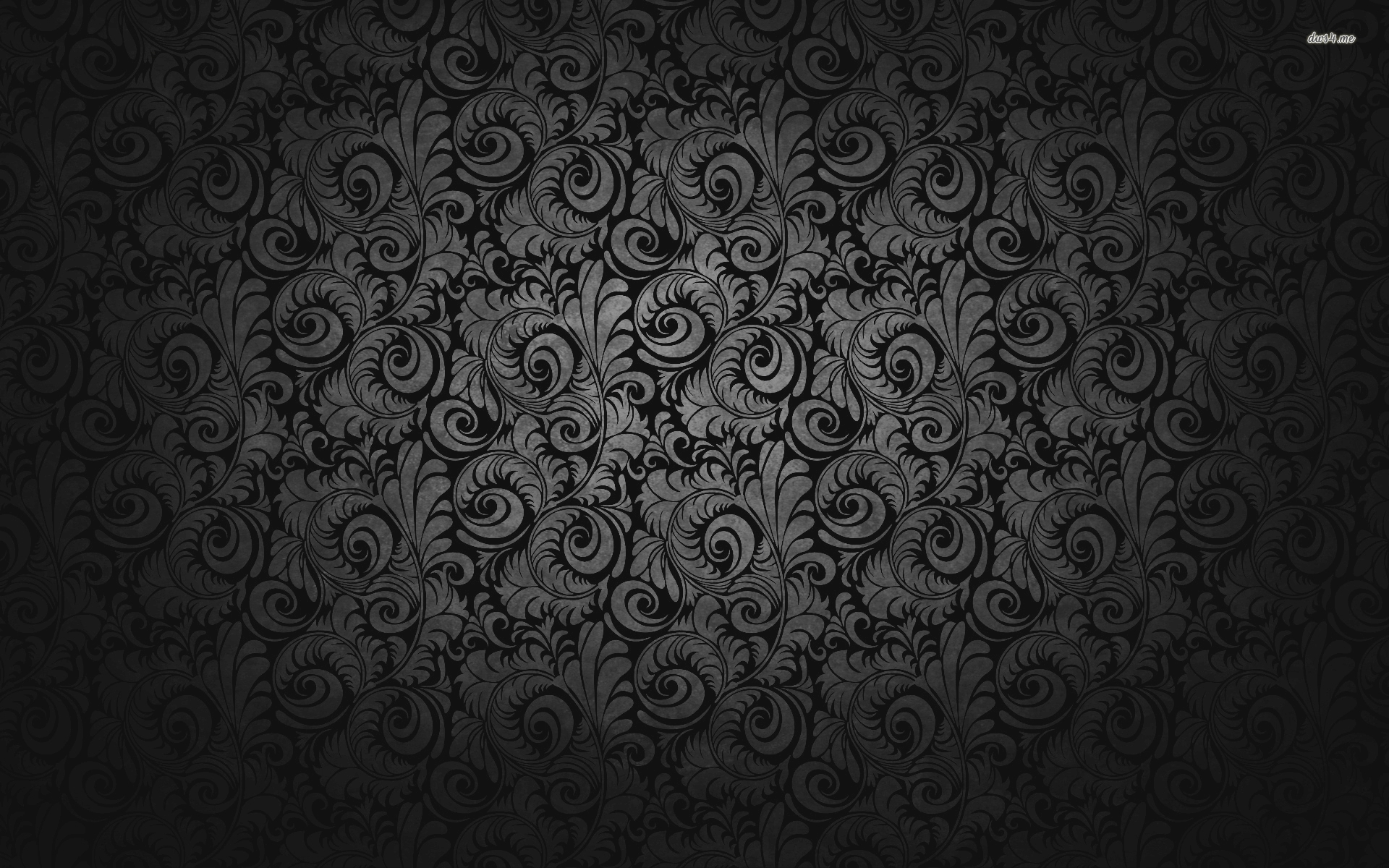 Black Floral Wallpaper 1920x1200 10008