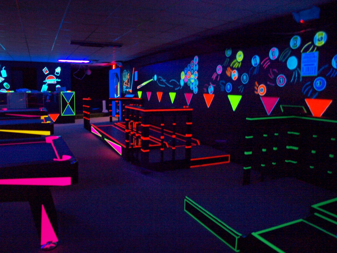Blacklight Game Room