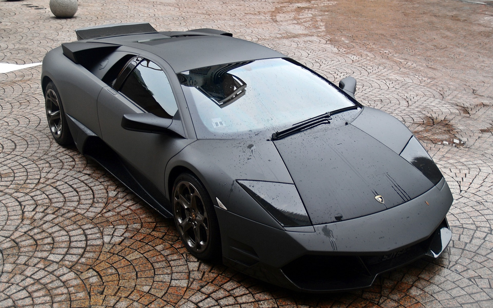 Download Stealth Fighter Matte Black Lambo Wallpaper : Widescreen 16:10 : 1280 x 800 | 1440 x 900 ...