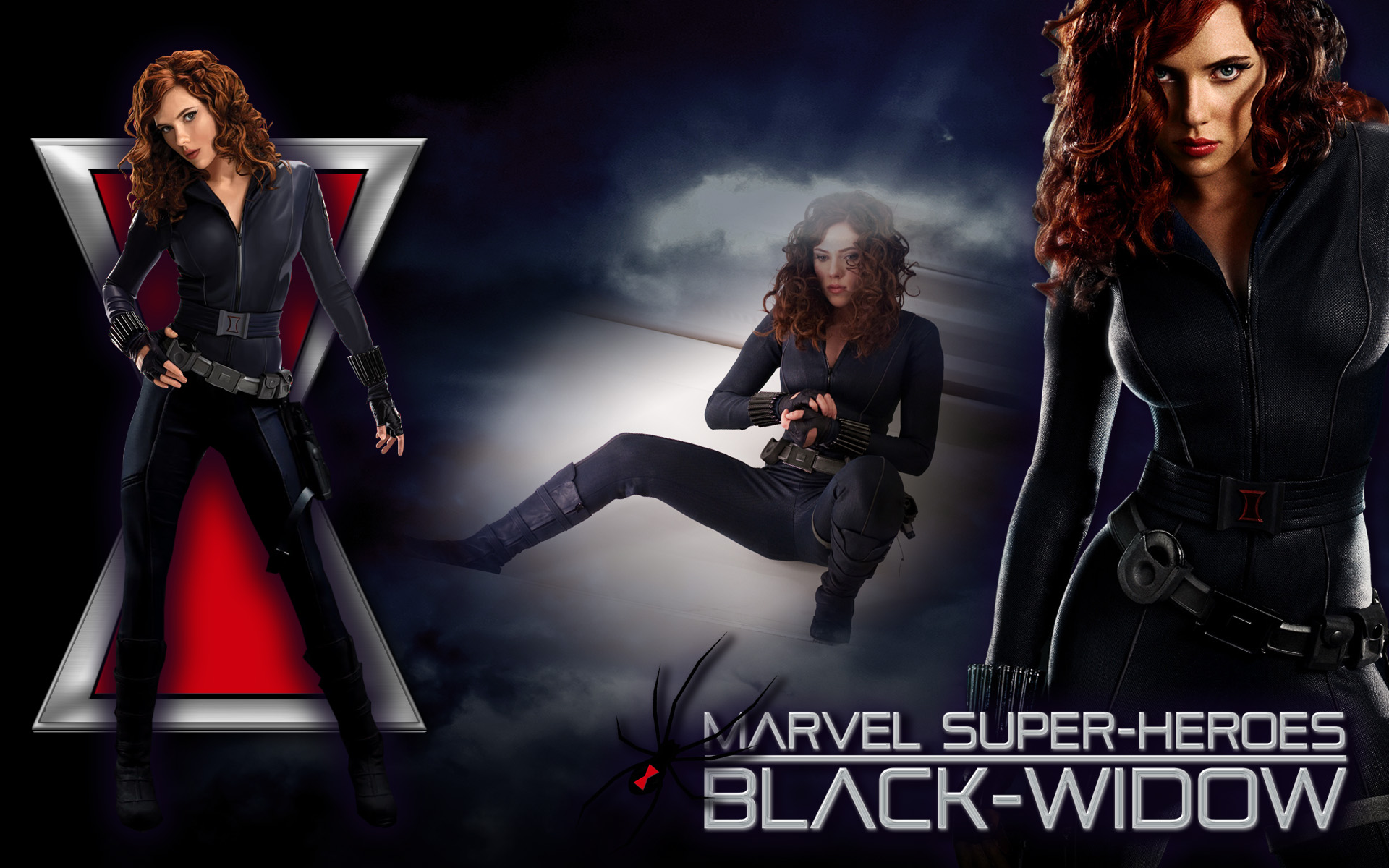 Black widow marvel wallpaper