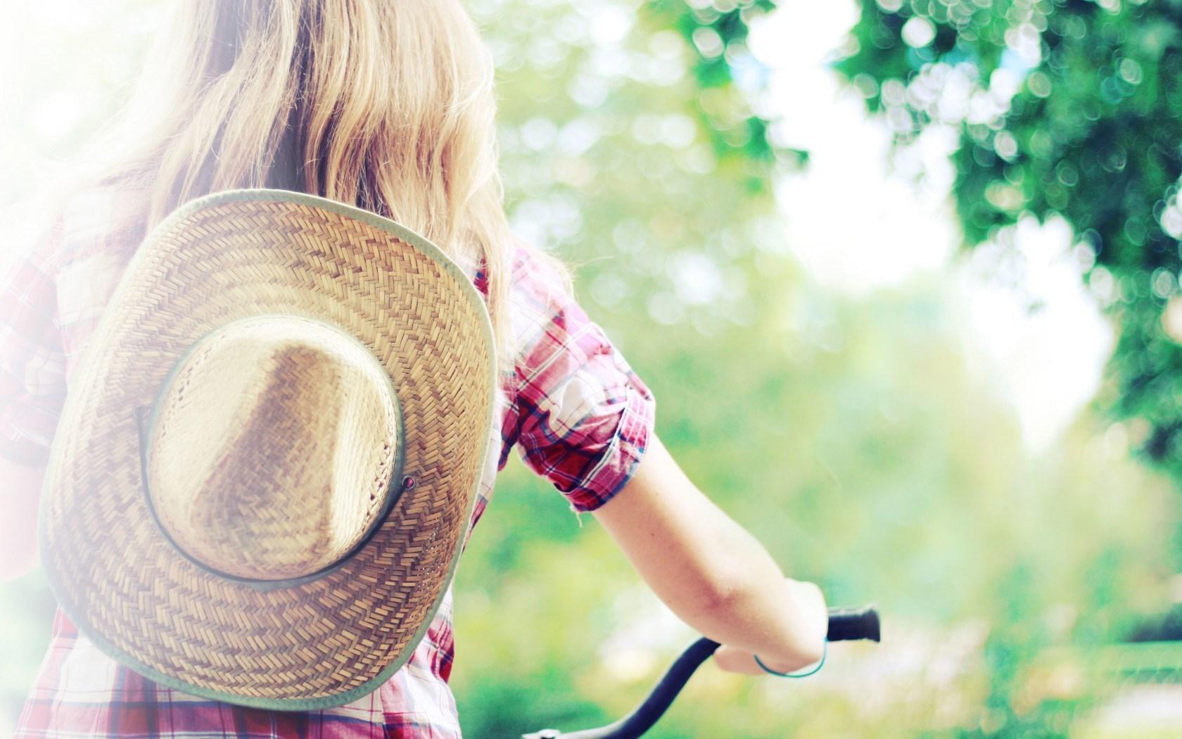 Blonde Girl Summer Hat