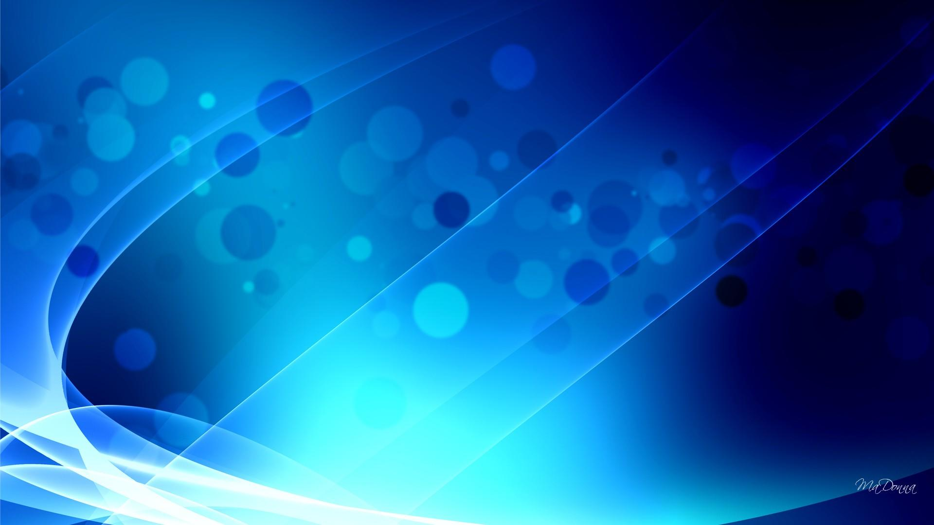 Hd Blue Abstract Wonder Wallpaper