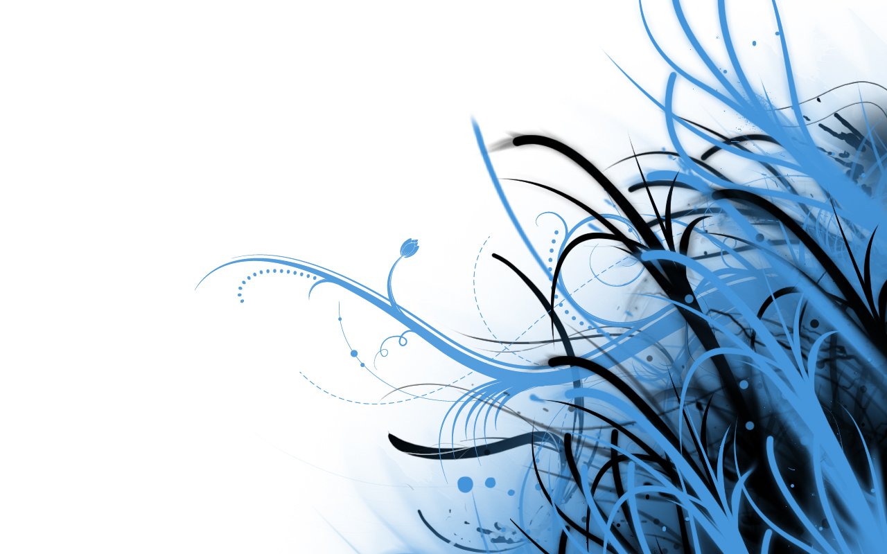 Abstract Blue And White By Phoenixrising Dkewv Desktop Wallpaper