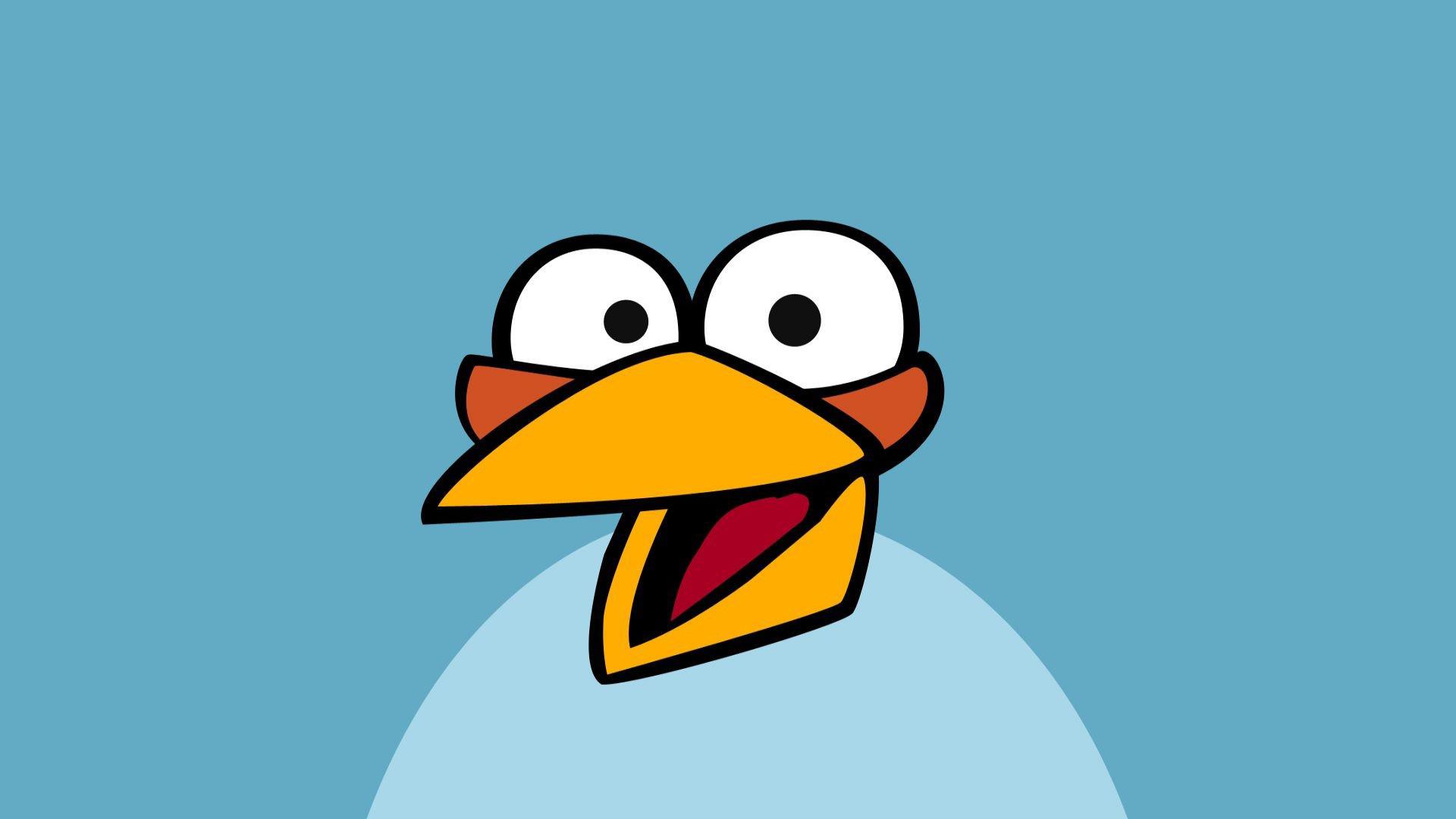 Blue Angry Bird Wallpaper
