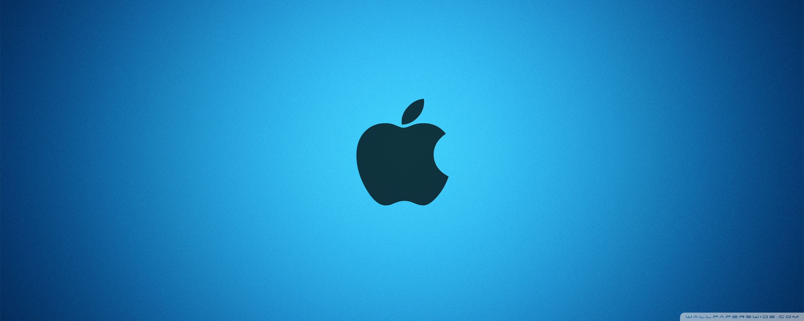 Blue Apple Logo Wallpaper