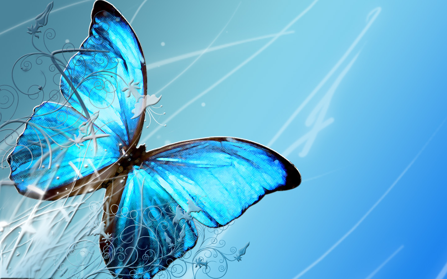 Blue Butterfly Wallpapers - HD Wallpapers