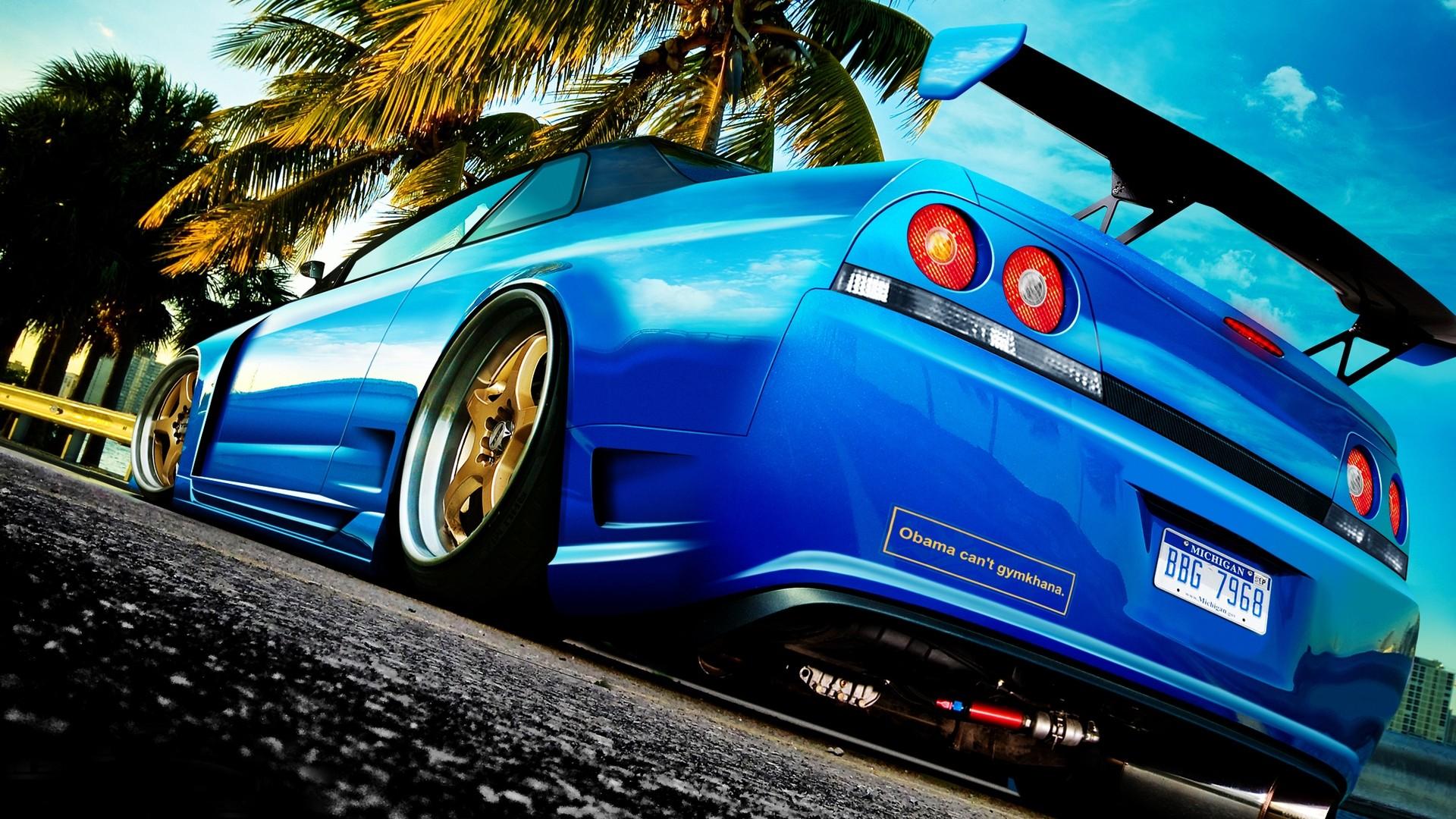 Blue Car Wallpaper HD