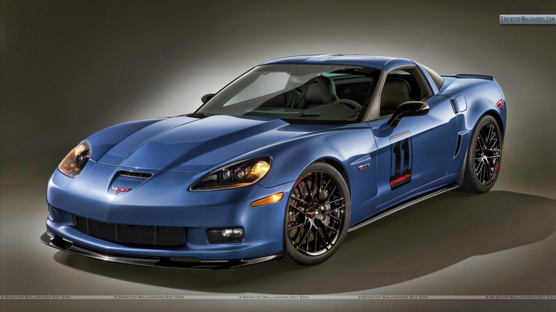 Blue corvette z06