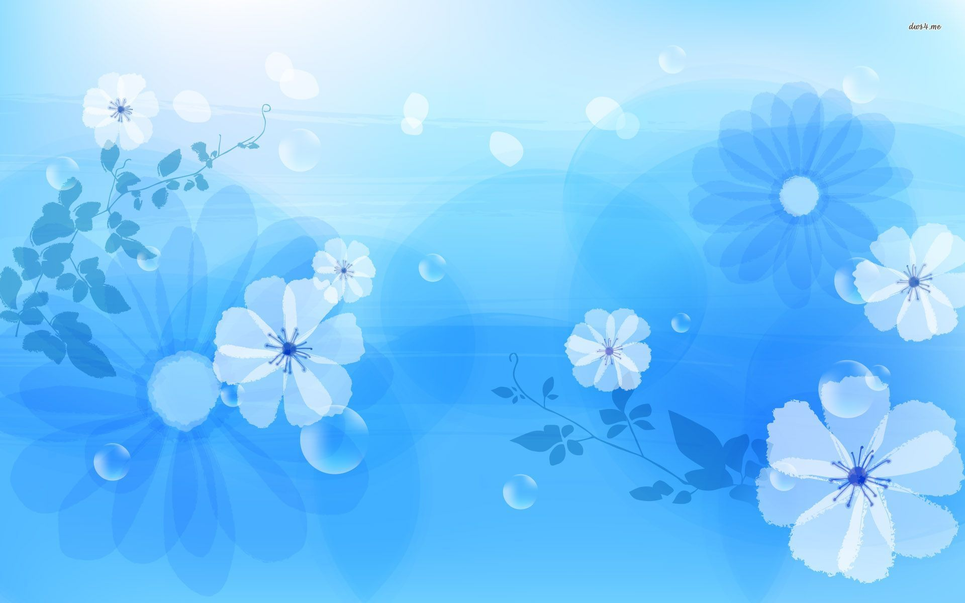 Wallpapers Flowers Blue 13
