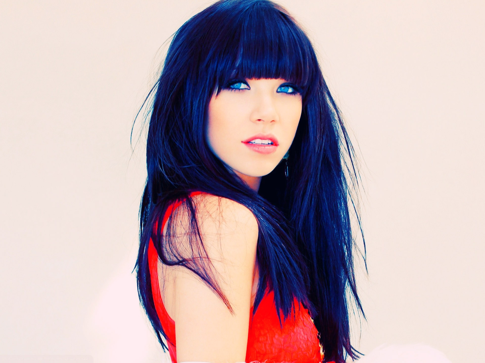 Carly Rae Jepsen Bright Blue Hair Colors 54 Beauty Model