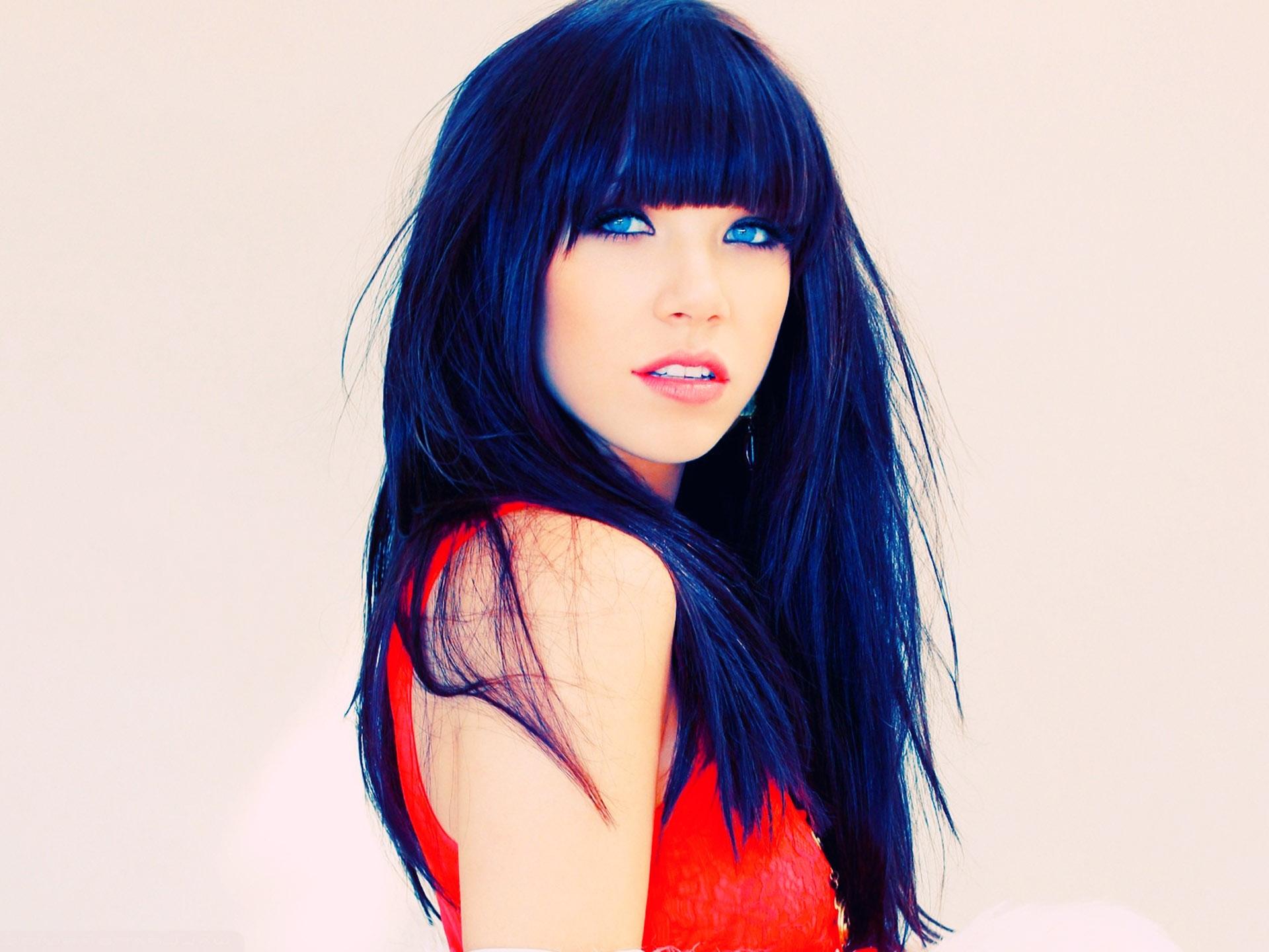 Carly Rae Jepsen Bright Blue Hair Colors 54 Beauty Model