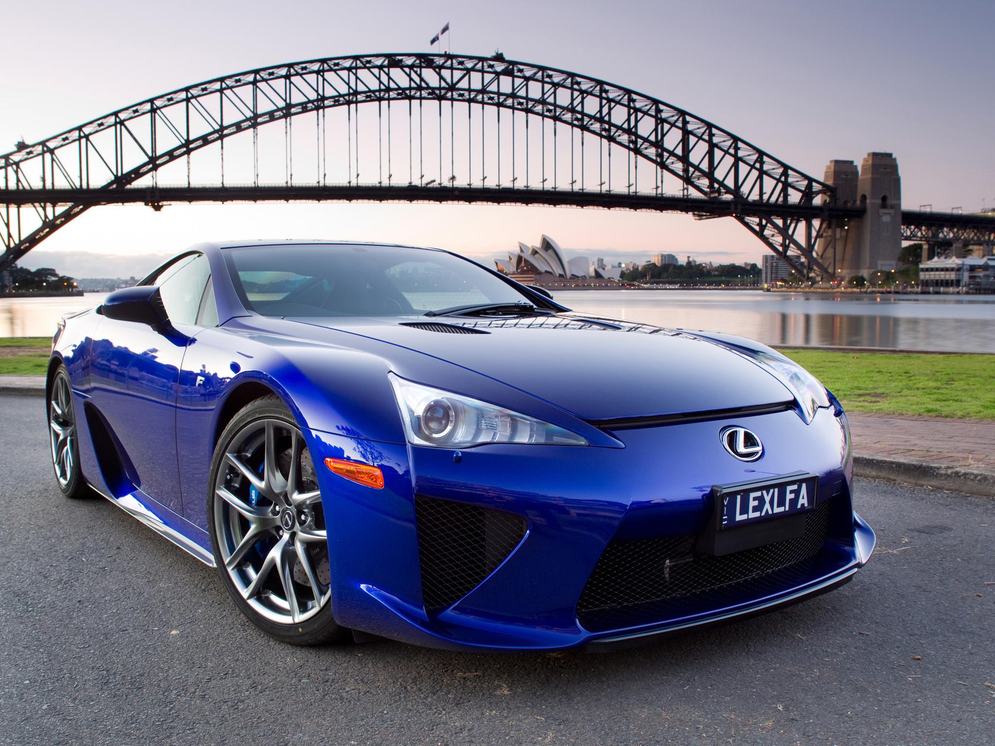 Blue Lexus Wallpaper