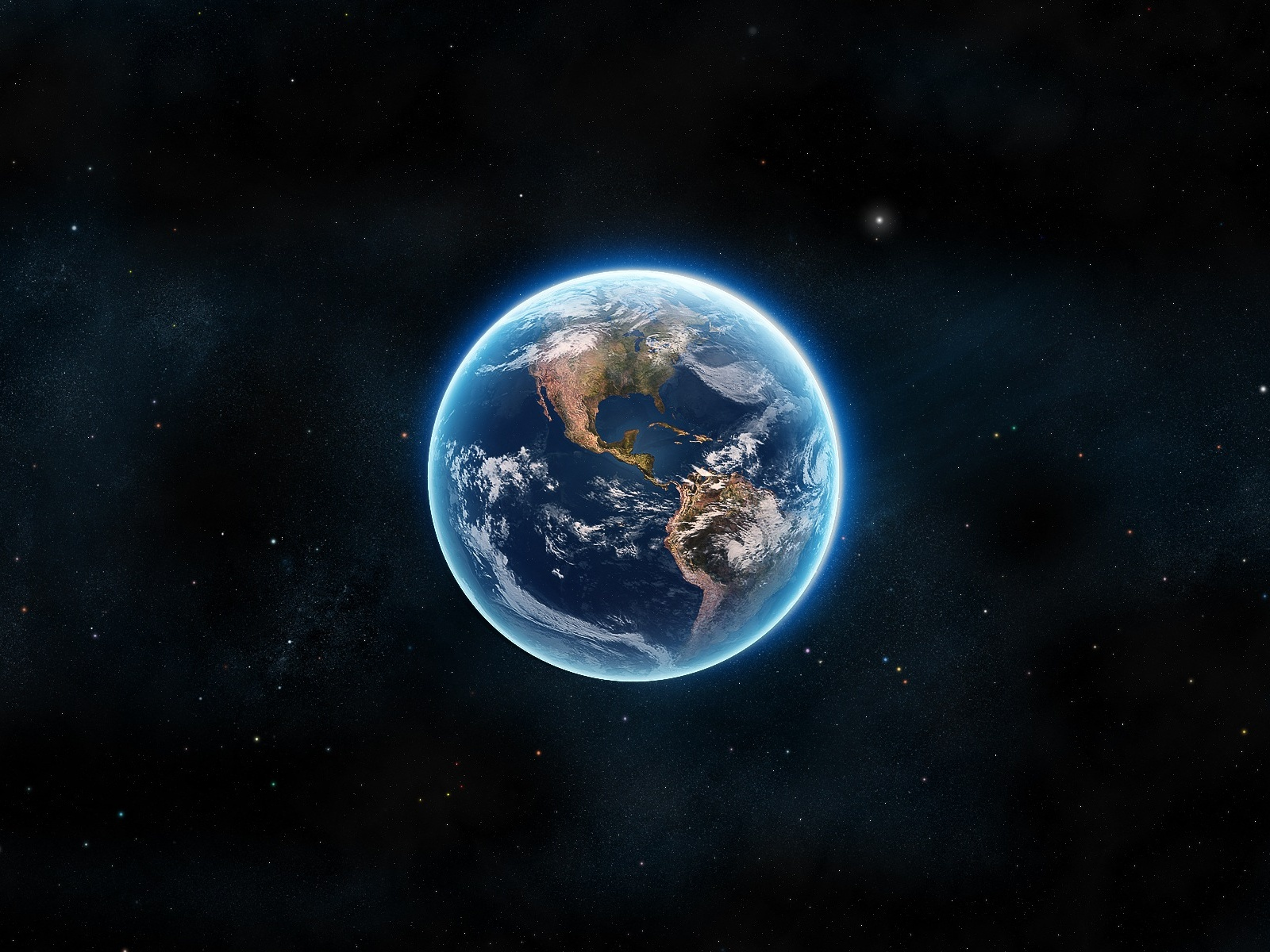 Blue Planet Earth Wallpaper in 1600x1200 Normal
