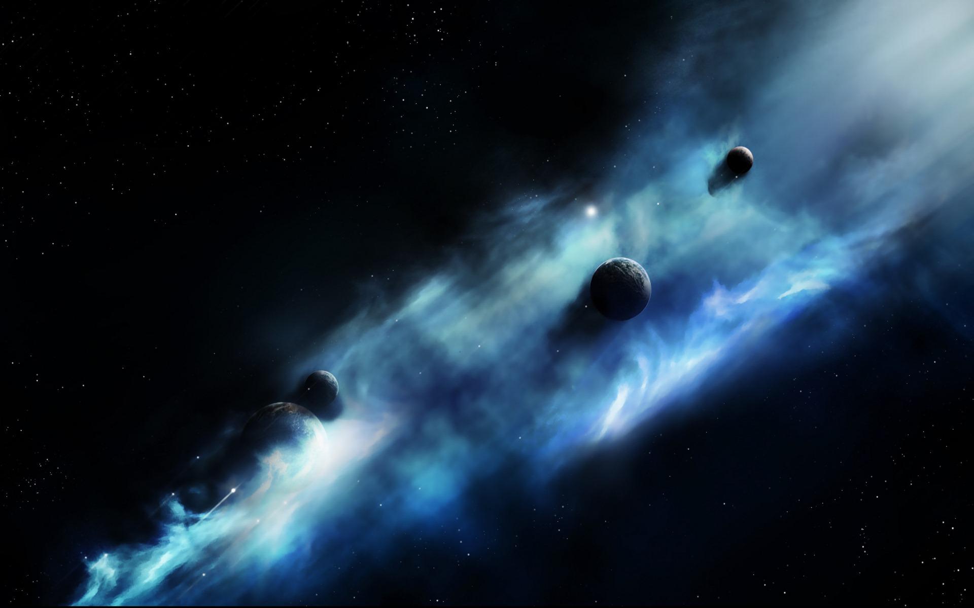 Blue Space Clouds