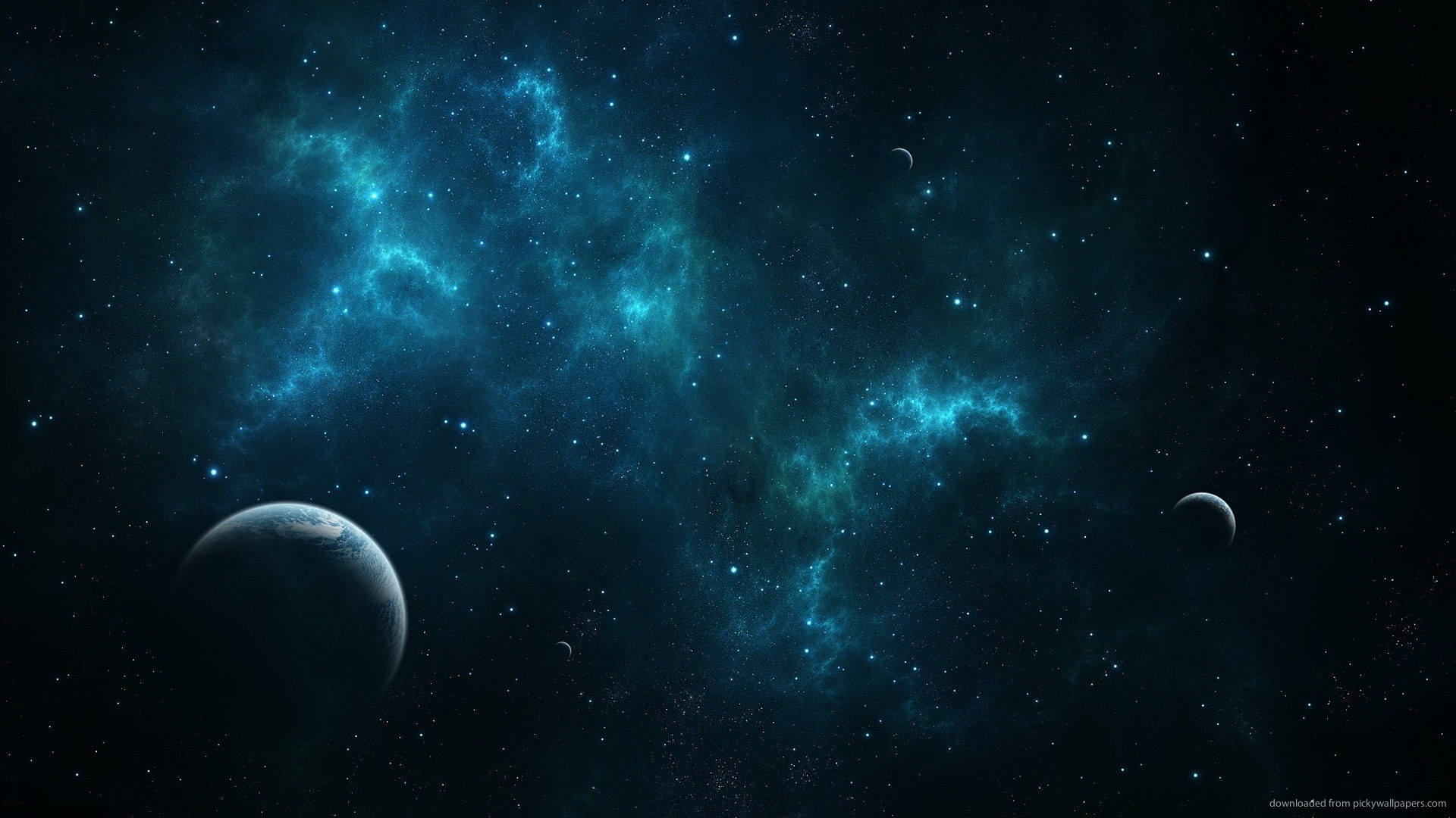 Blue Space Wallpaper