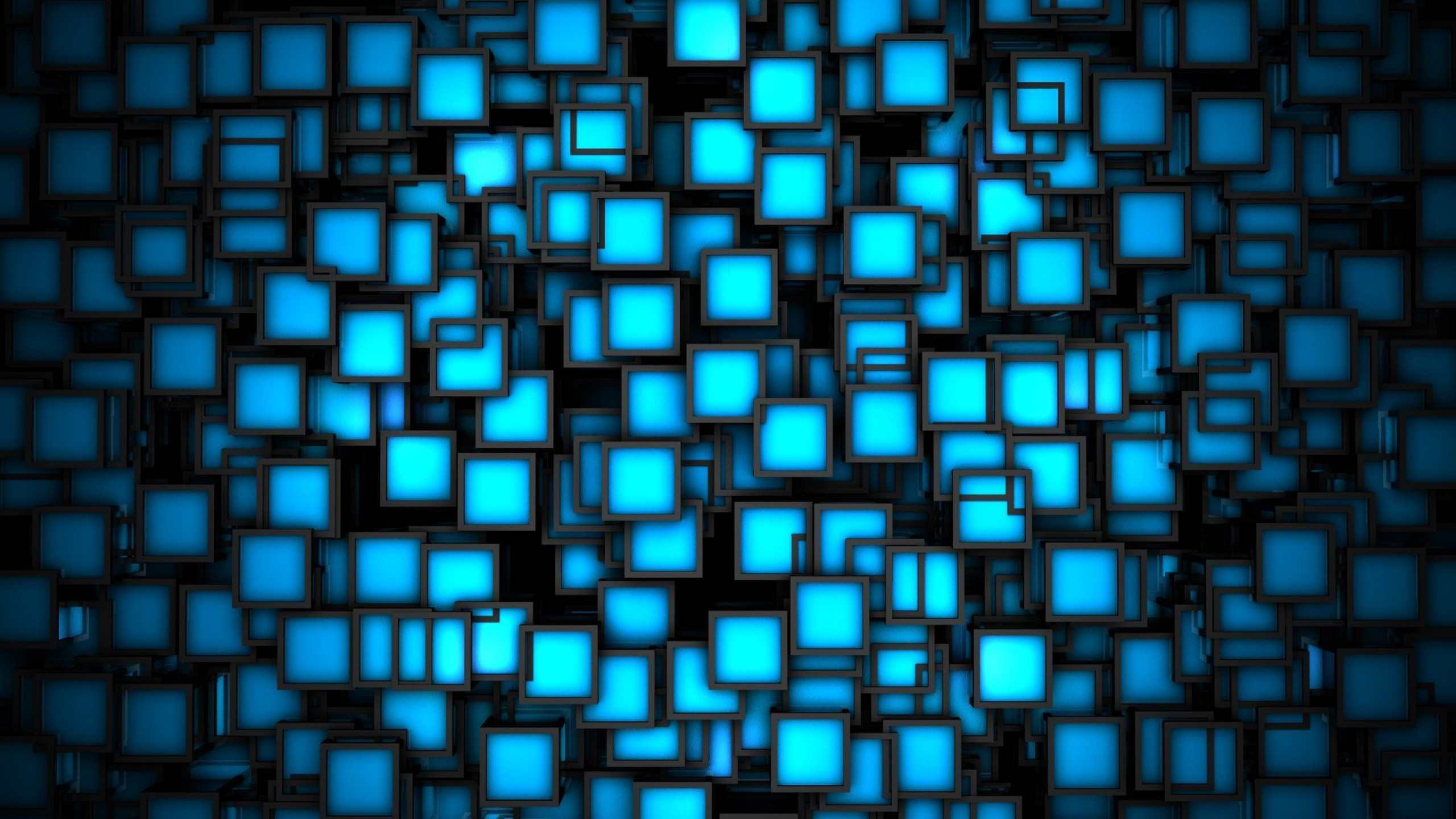 3D Blue Wallpaper